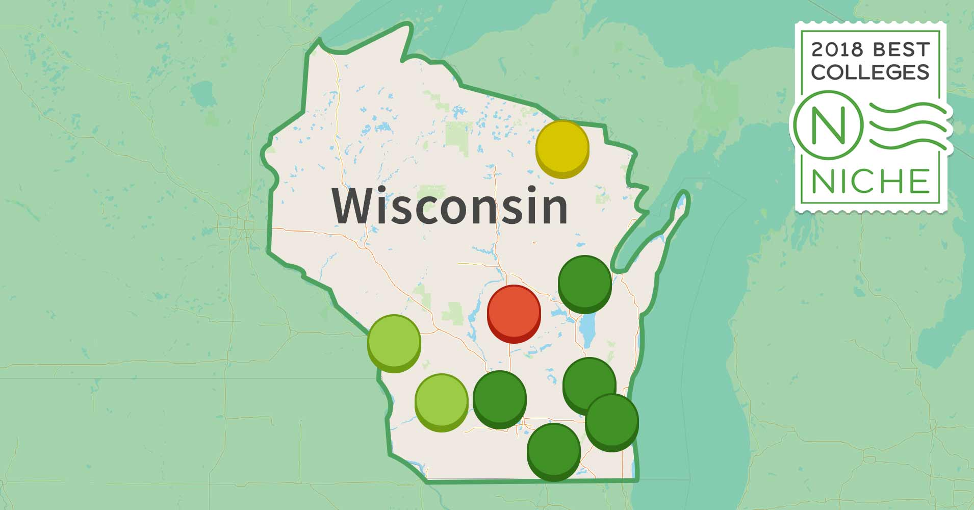 Best Colleges In Wisconsin Niche - Map of all colleges and universities in the us