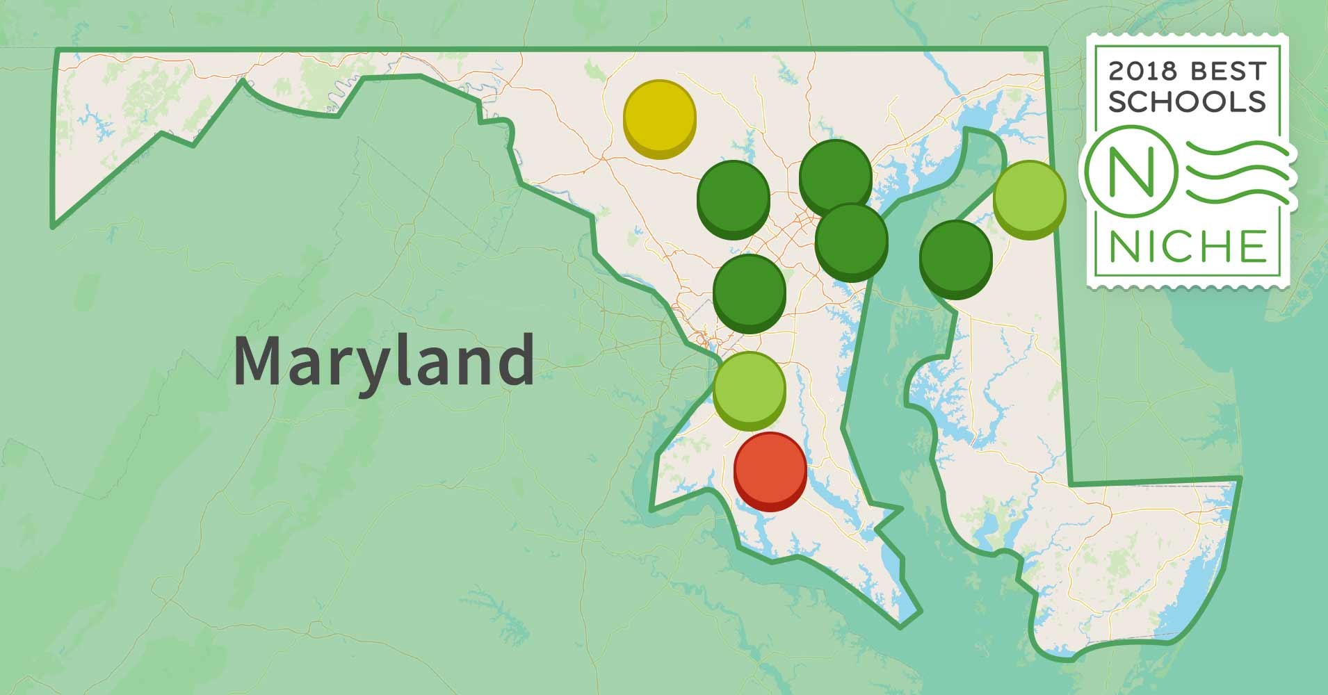 Best School Districts In Maryland Niche - Marriland map