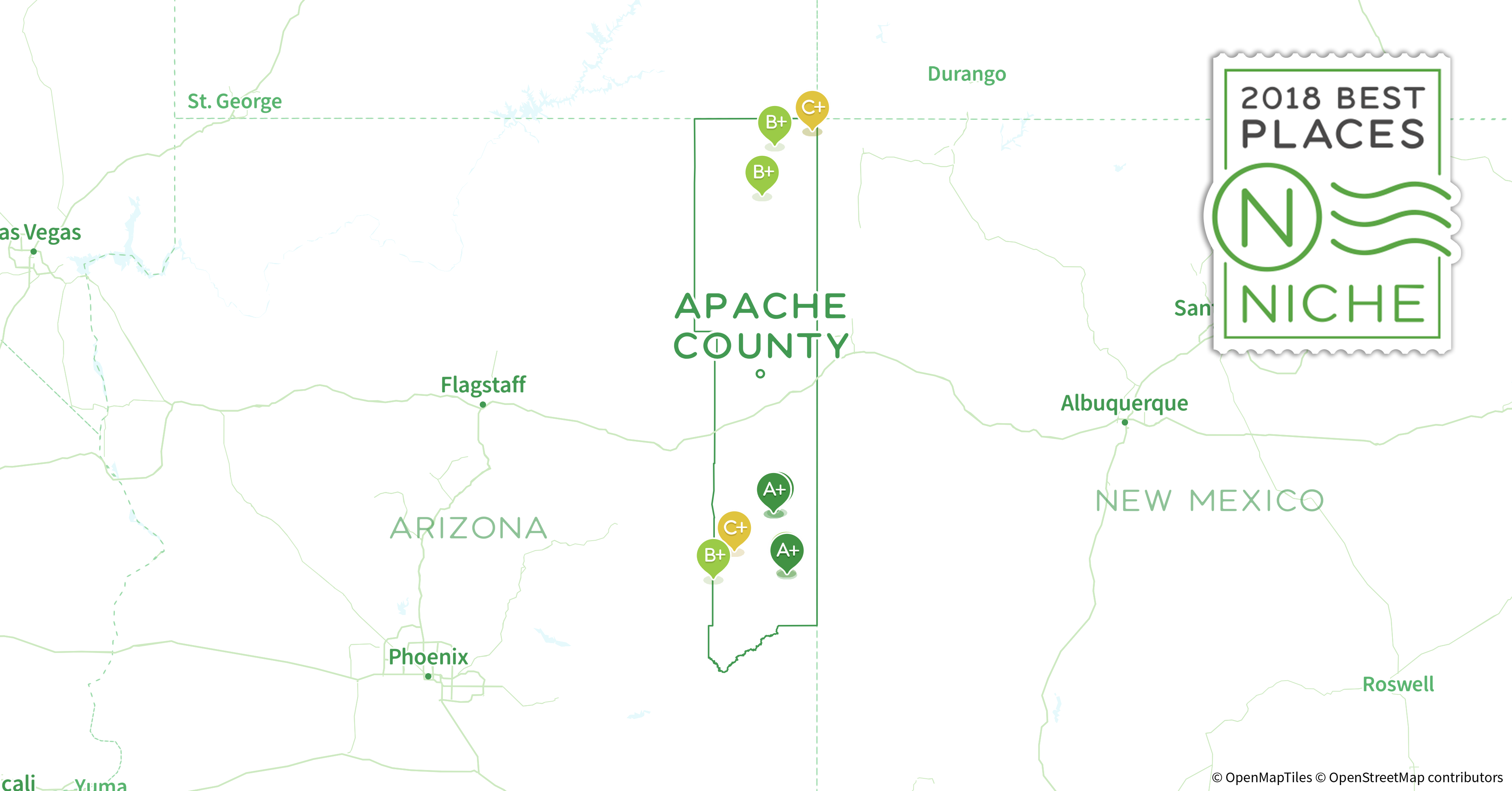 Apache County Arizona Map.2018 Safest Places To Live In Apache County Az Niche