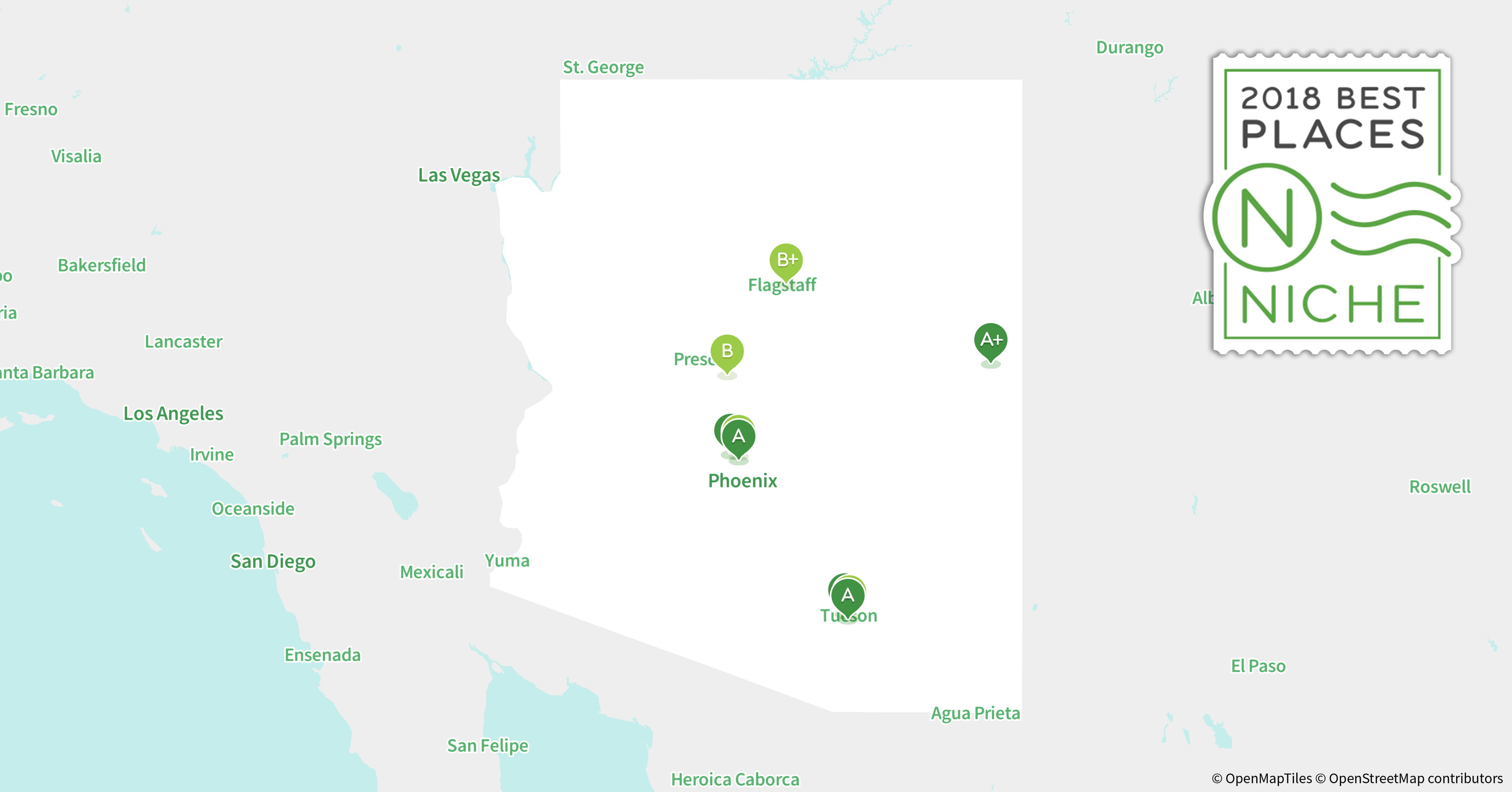 2018 Safest Places to Live in Arizona Niche