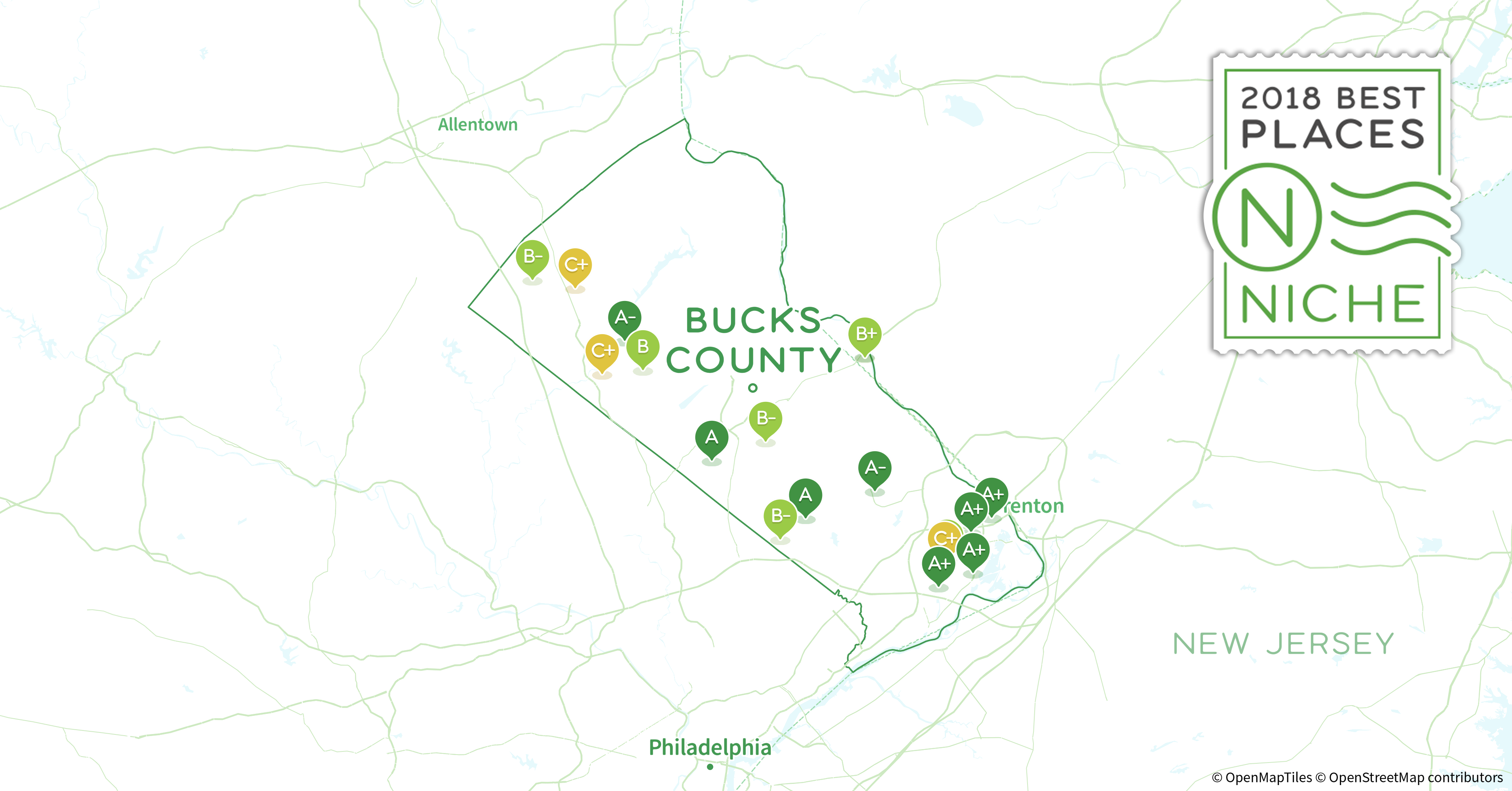2018 Safest Places to Live in Bucks County, PA - Niche