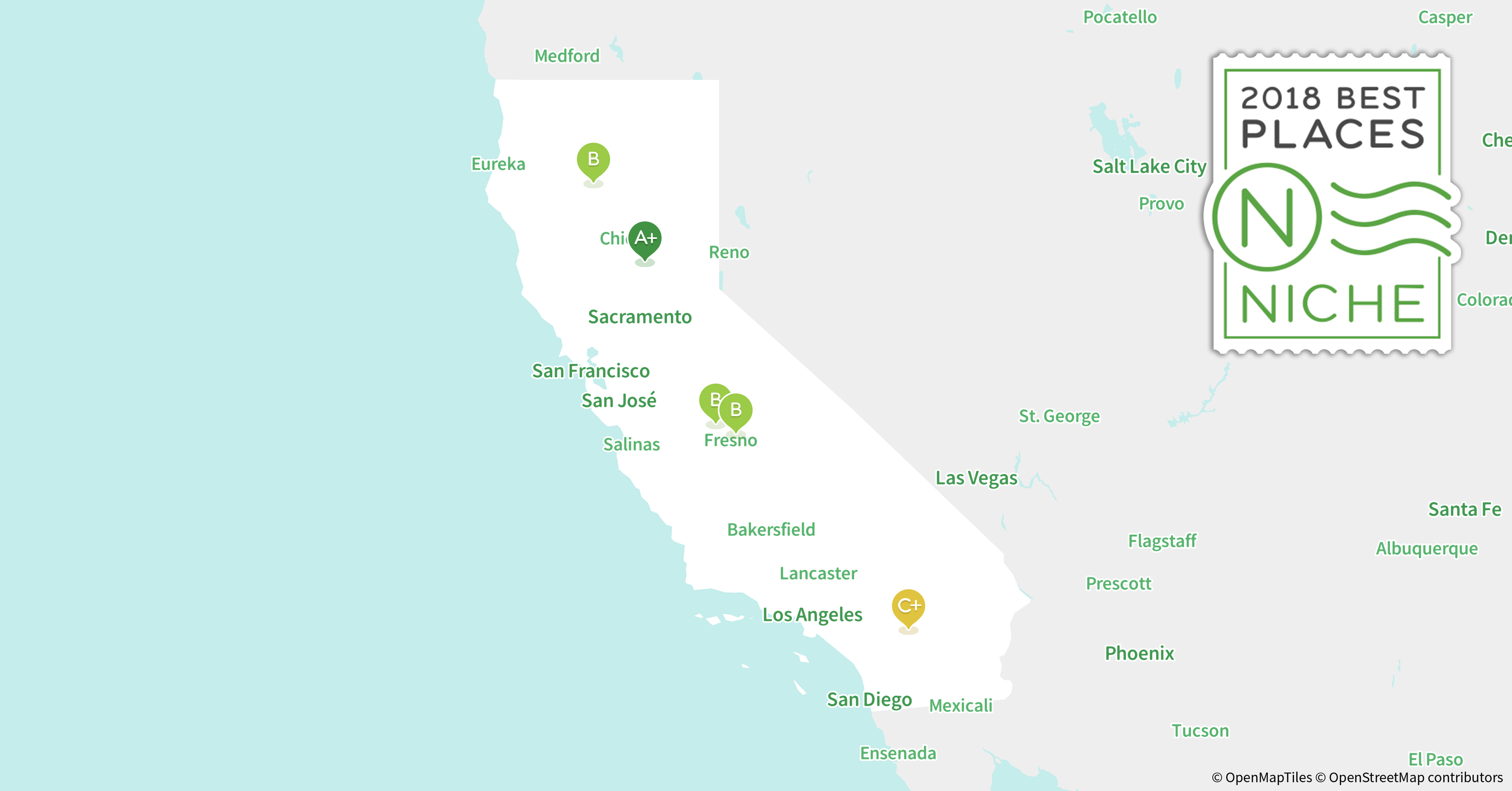 2018 best places to live in california niche for Good places to live in california