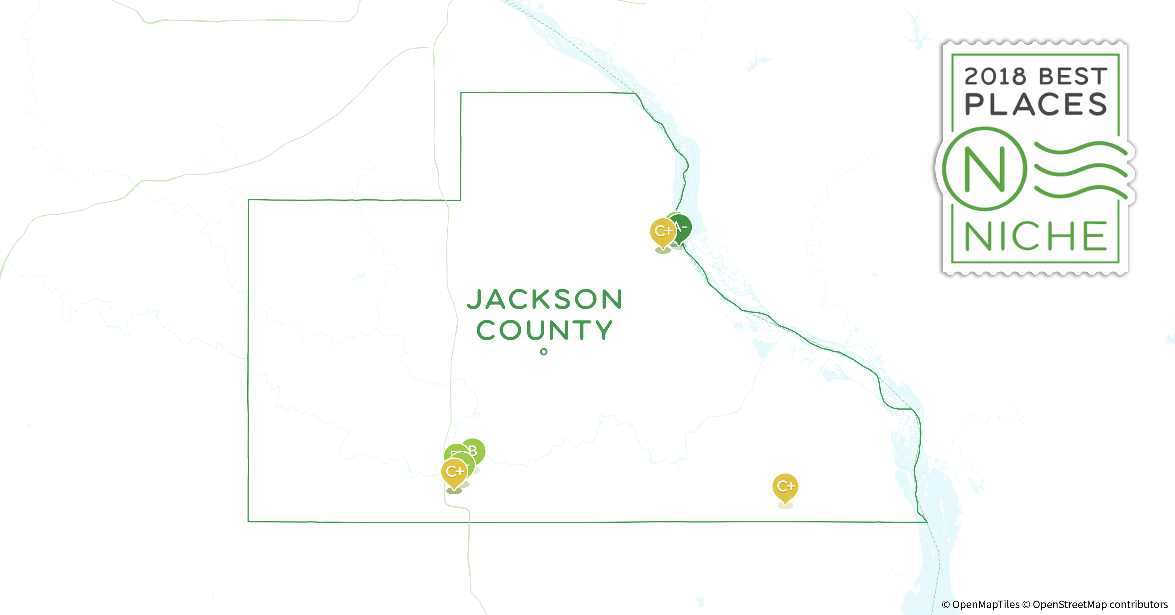 Jackson County Iowa Map.2018 Safest Places To Live In Jackson County Ia Niche
