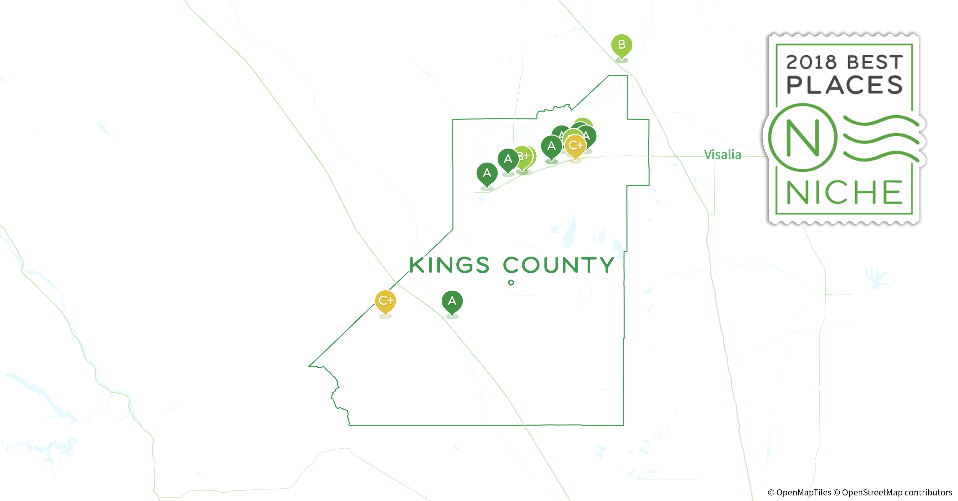 Kings County California Map.2018 Best Places To Raise A Family In Kings County Ca Niche