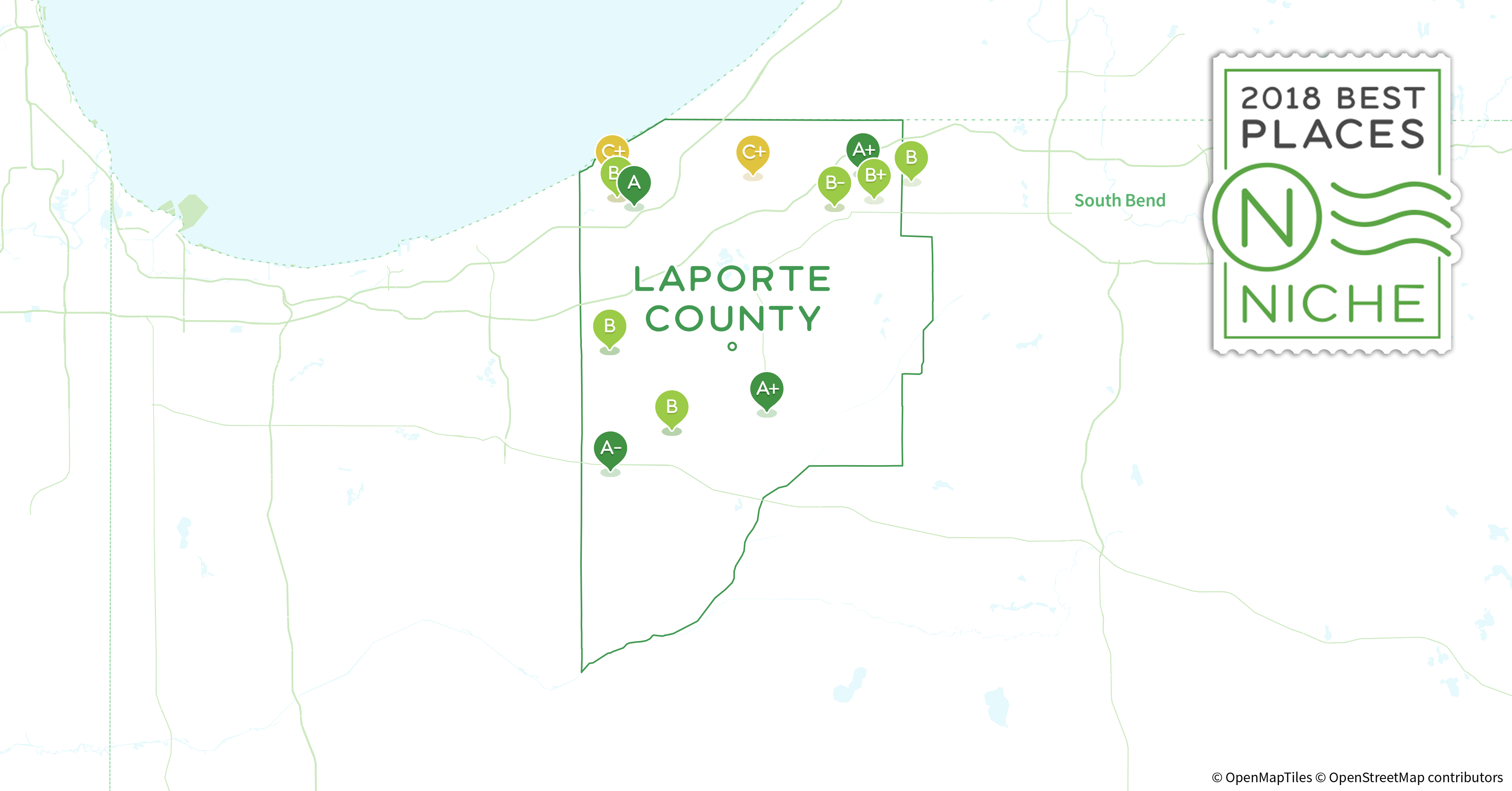 La Porte County Indiana Map.2018 Best Places To Live In Laporte County In Niche