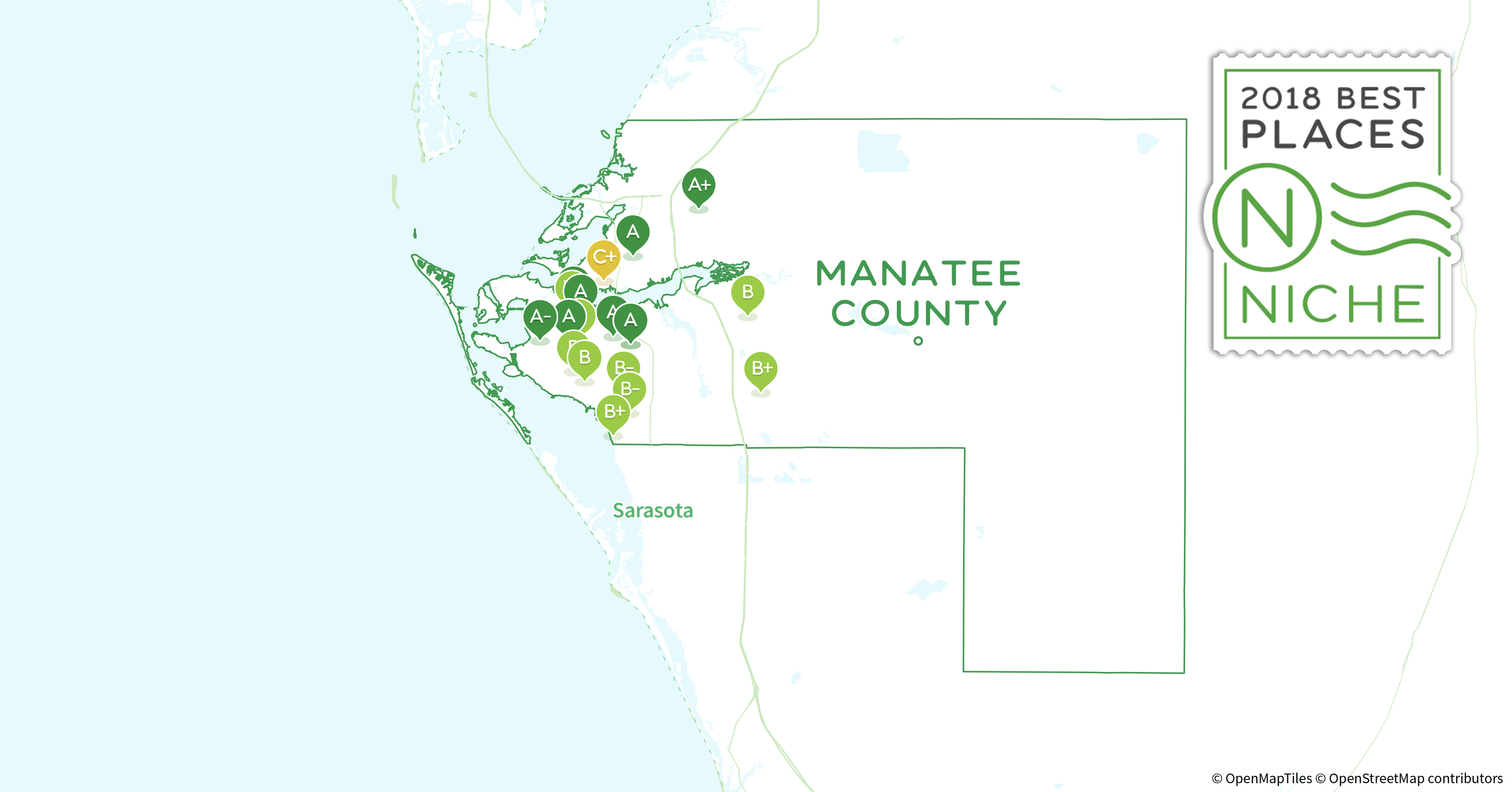 Florida Map Of Counties.2018 Best Places To Live In Manatee County Fl Niche