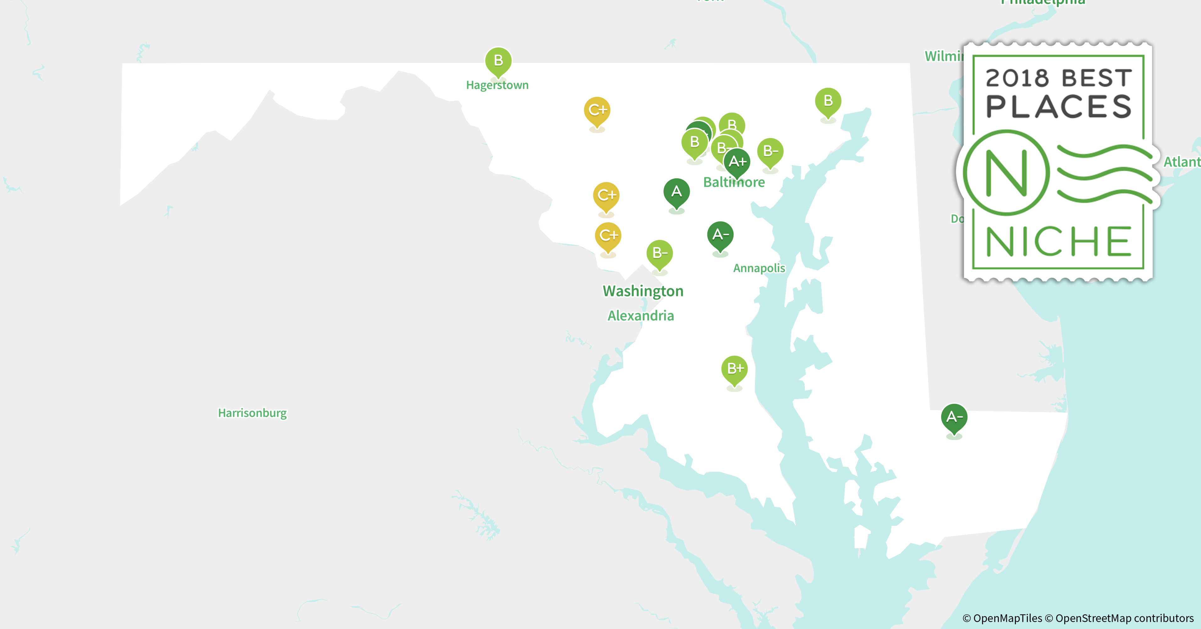Best Places To Retire In Maryland Niche - Marriland state