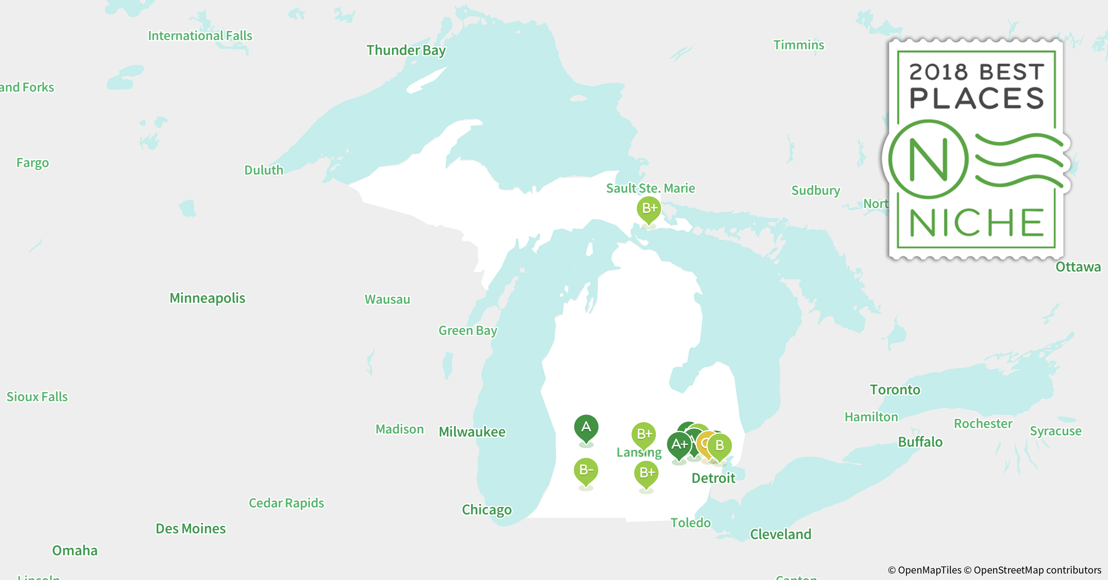 2018 Best Places to Live in Michigan Niche