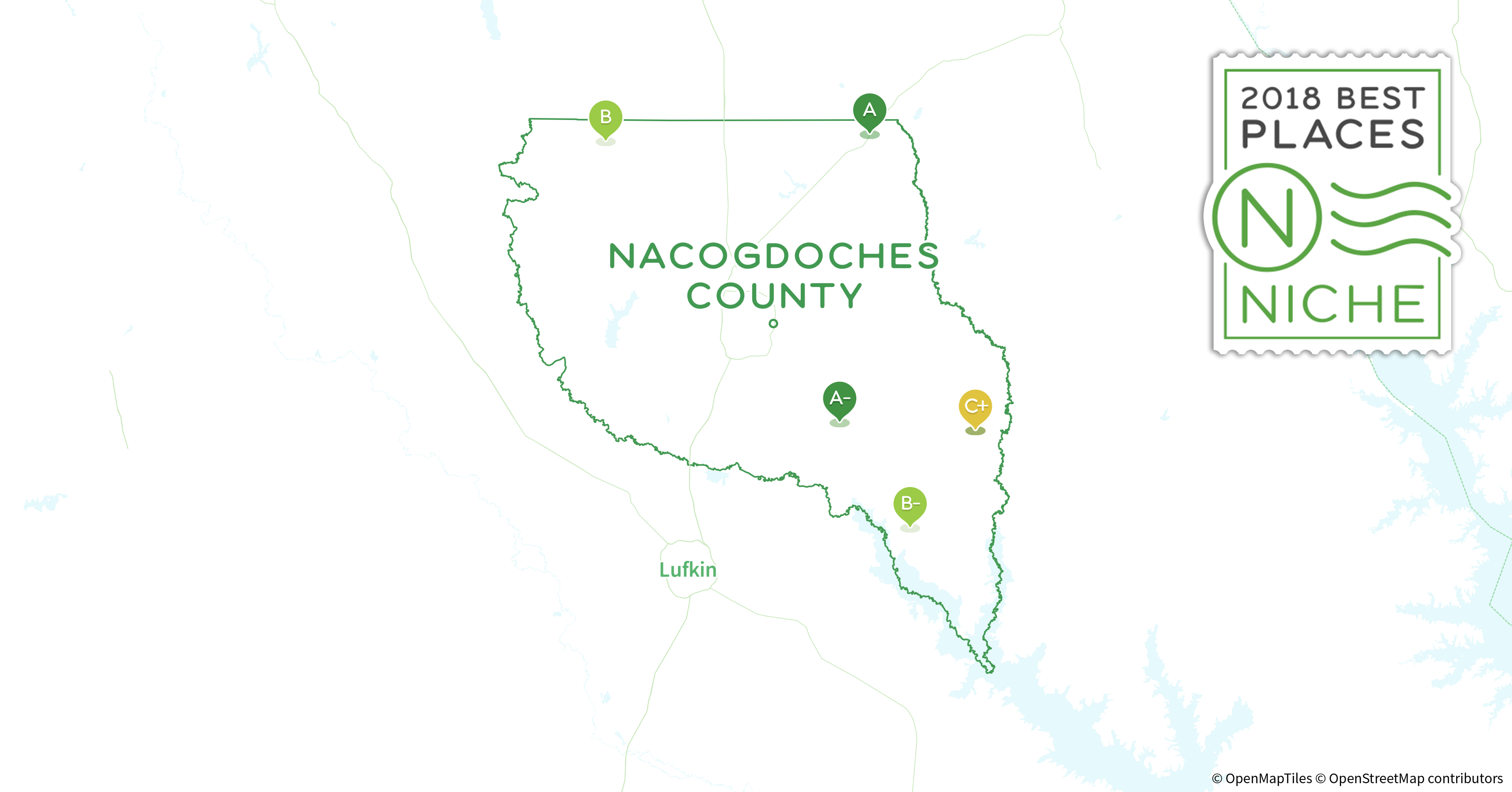 Nacogdoches Zip Code Map.2018 Safest Places To Live In Nacogdoches County Tx Niche