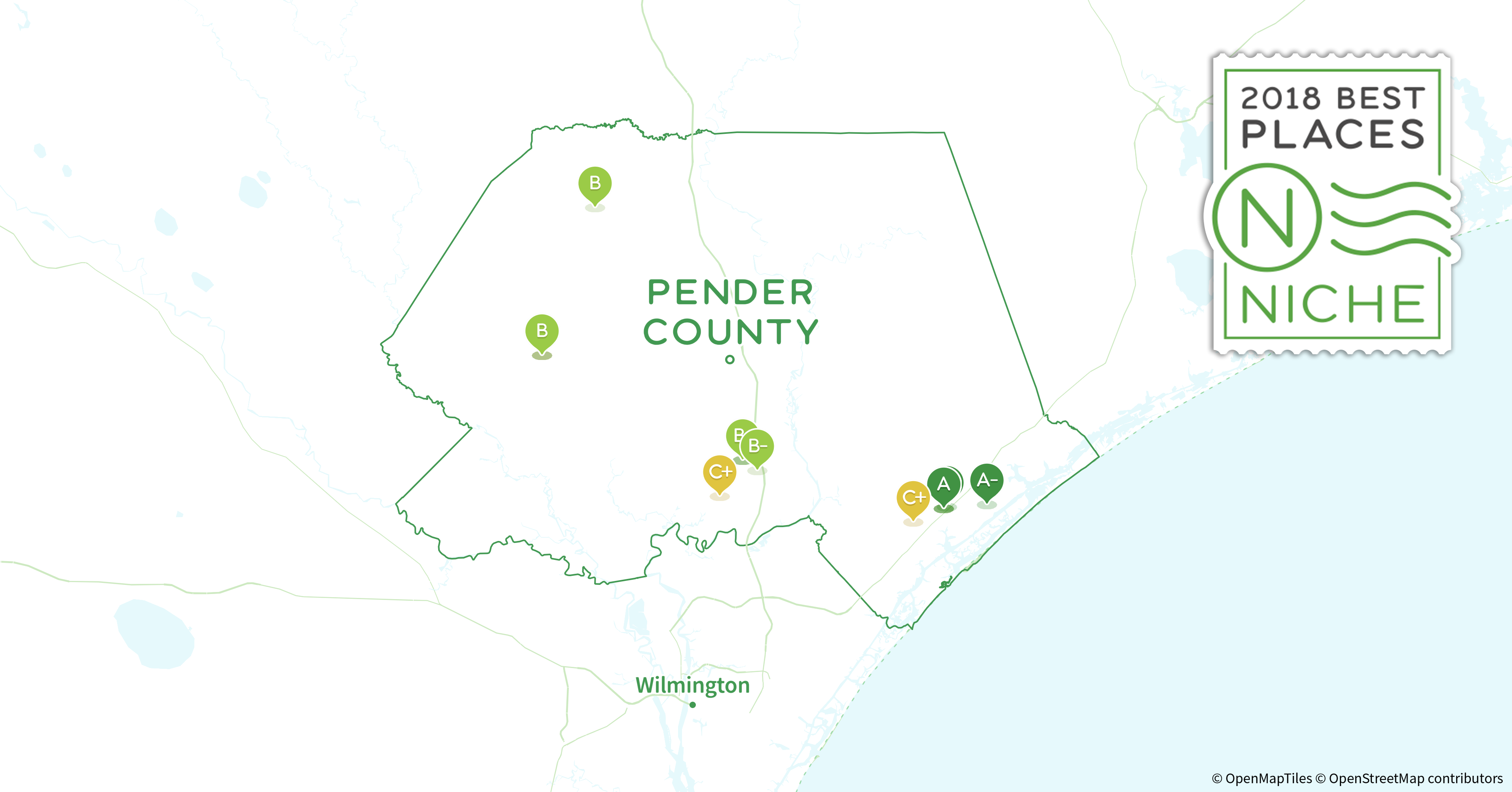 Pender County Nc Map.2018 Safest Places To Live In Pender County Nc Niche