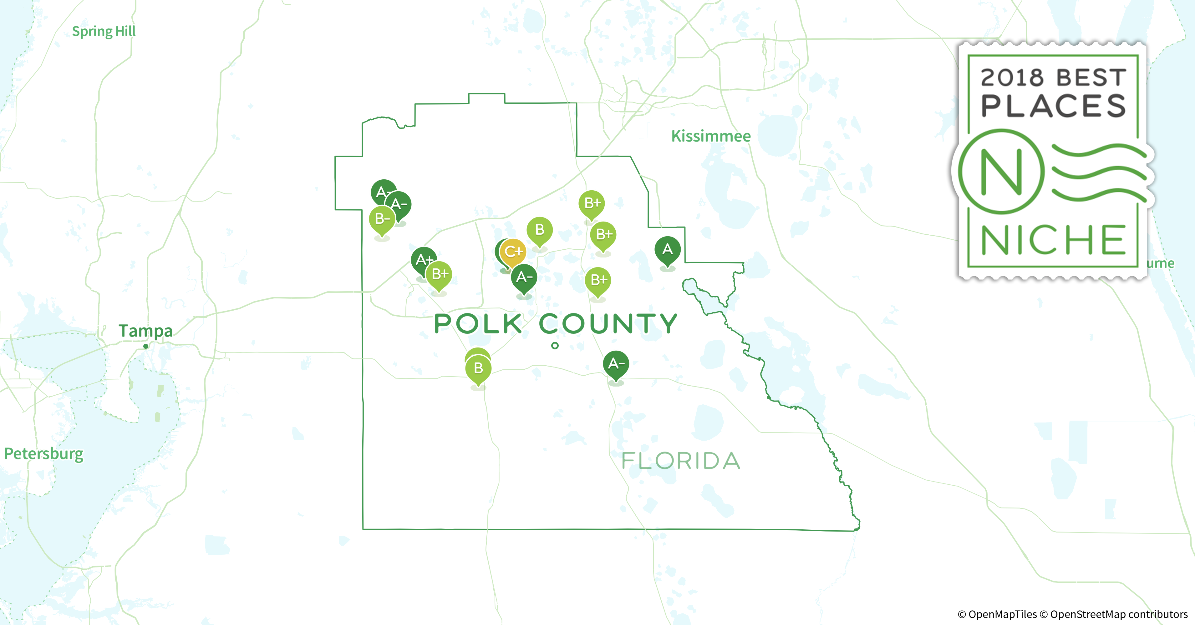 Polk County Florida Map.2018 Best Places To Retire In Polk County Fl Niche