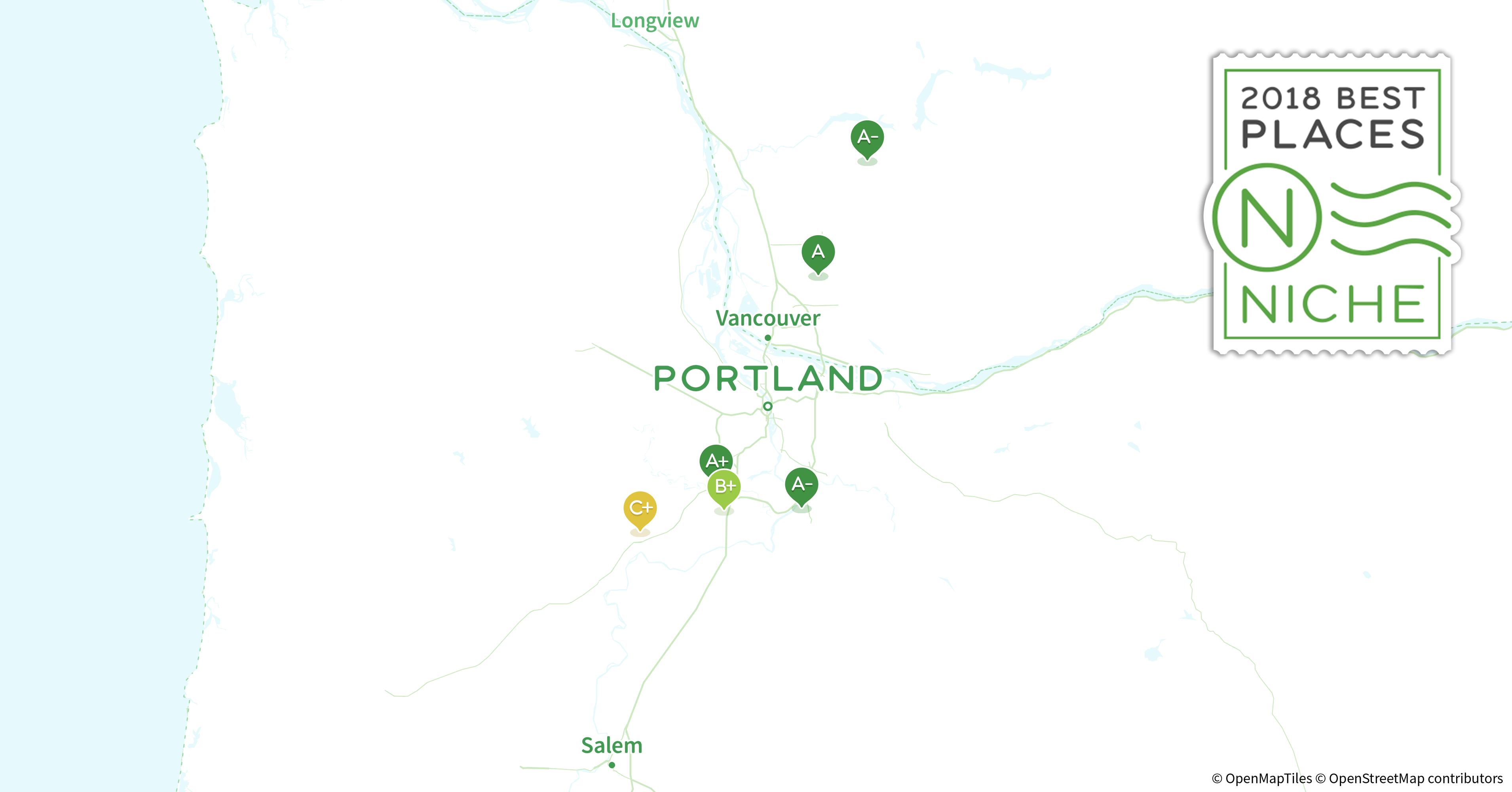 2018 Best Portland Area Suburbs to Live - Niche