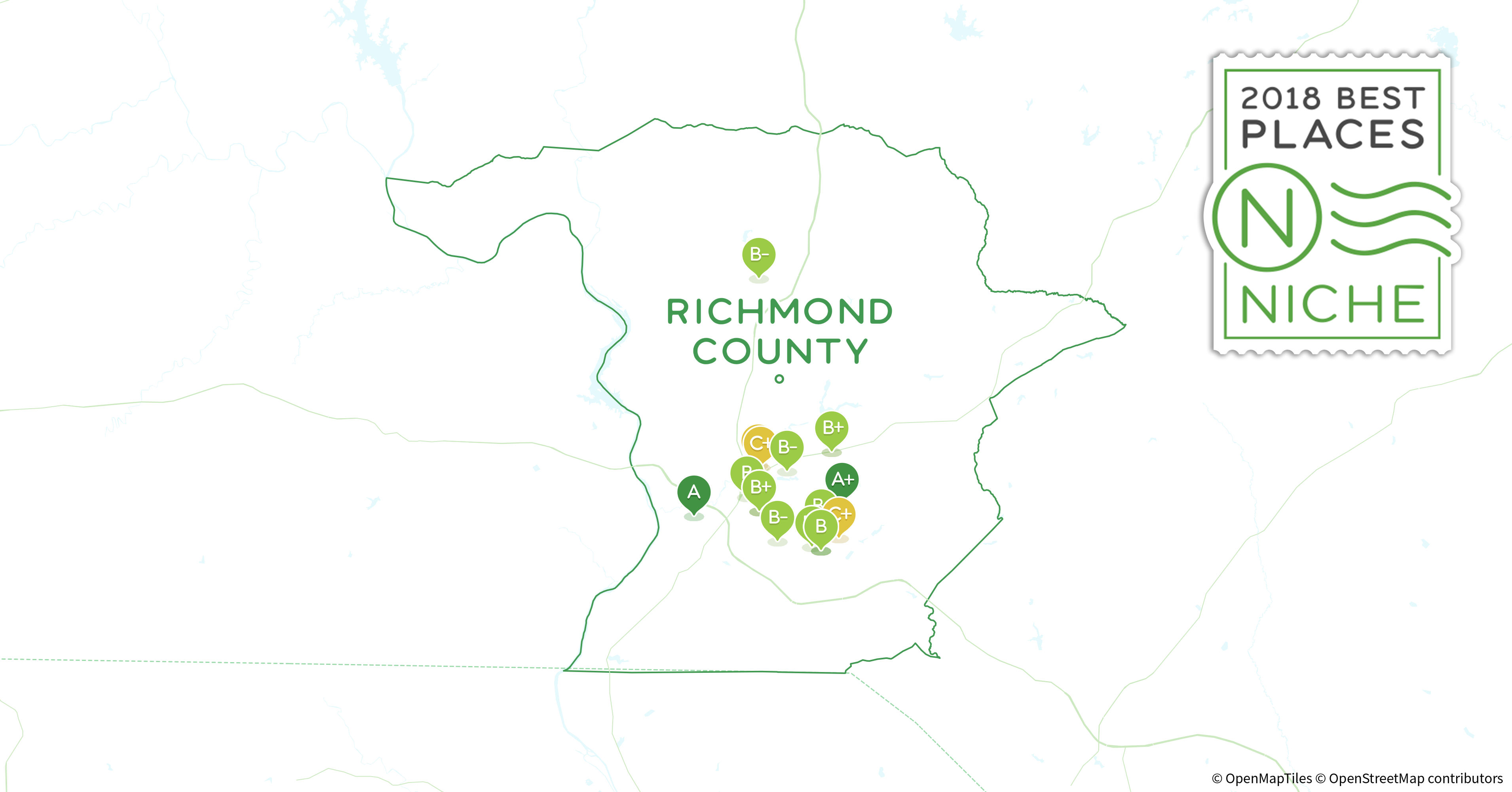 Richmond County Nc Map.2018 Safest Places To Live In Richmond County Nc Niche