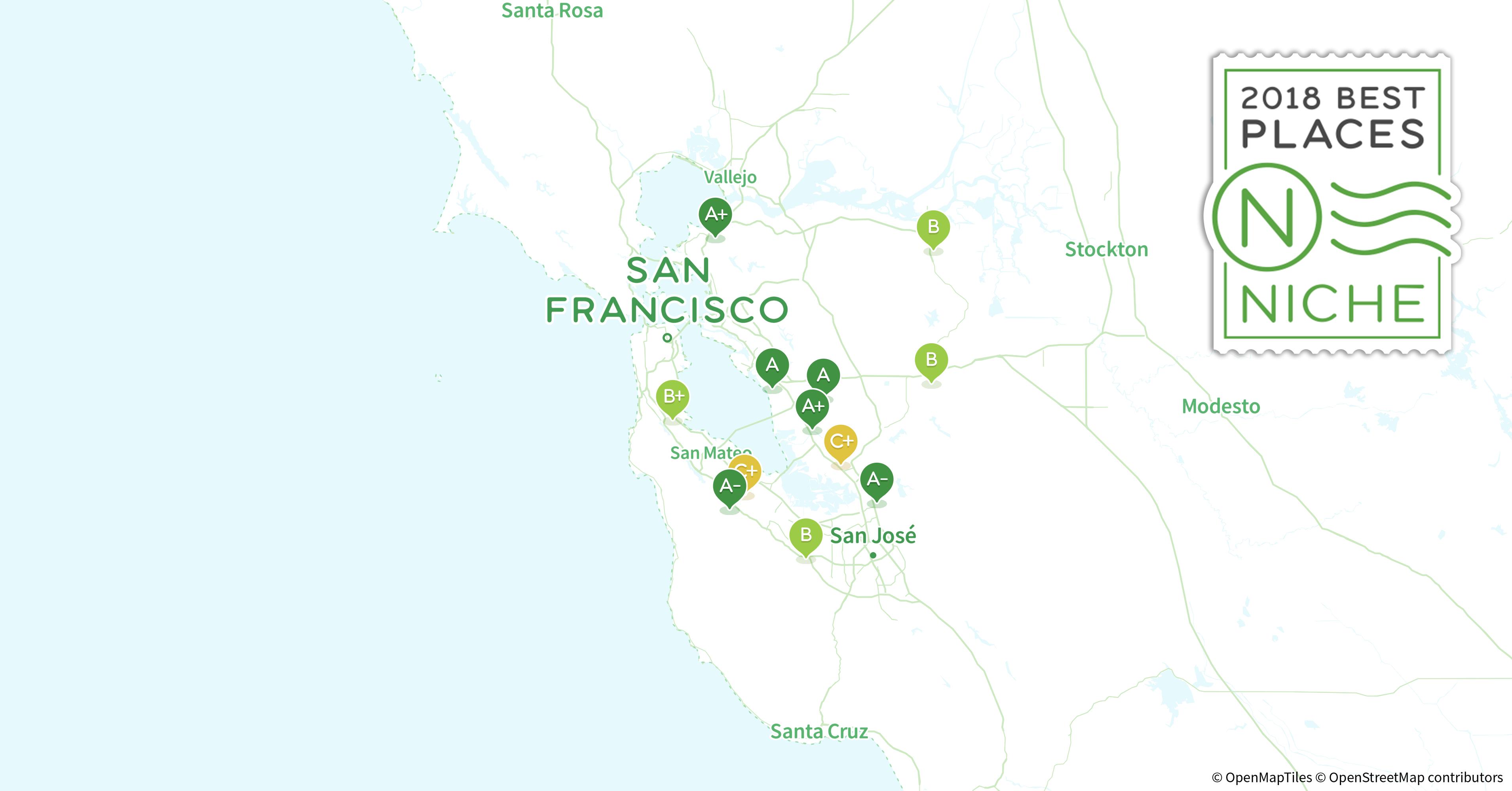 2018 Safest Suburbs of San Francisco Bay Area Niche