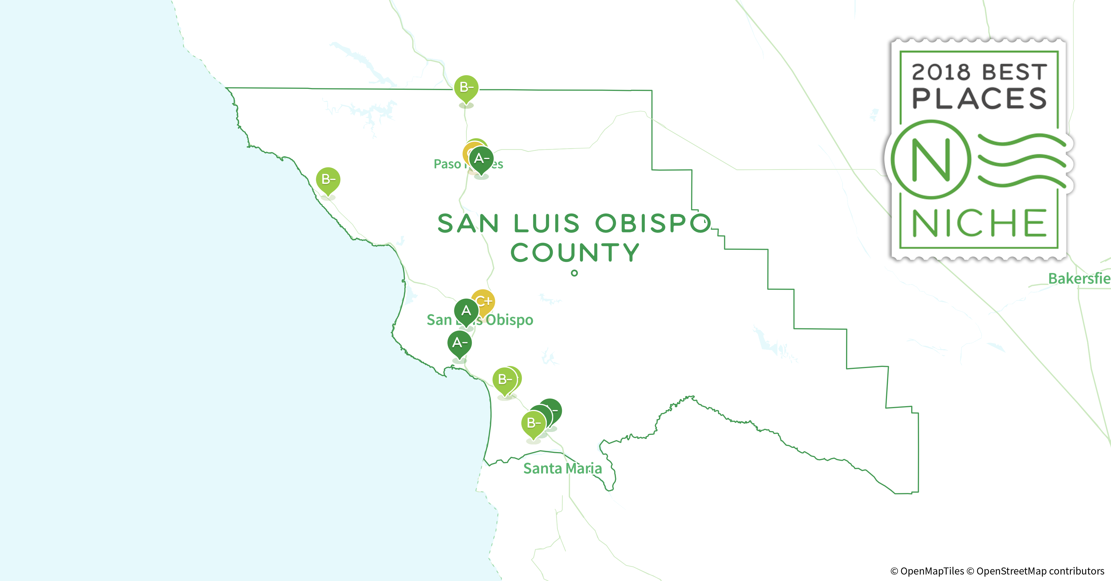 2018 Best Places to Buy a House in San Luis Obispo County, CA - Niche