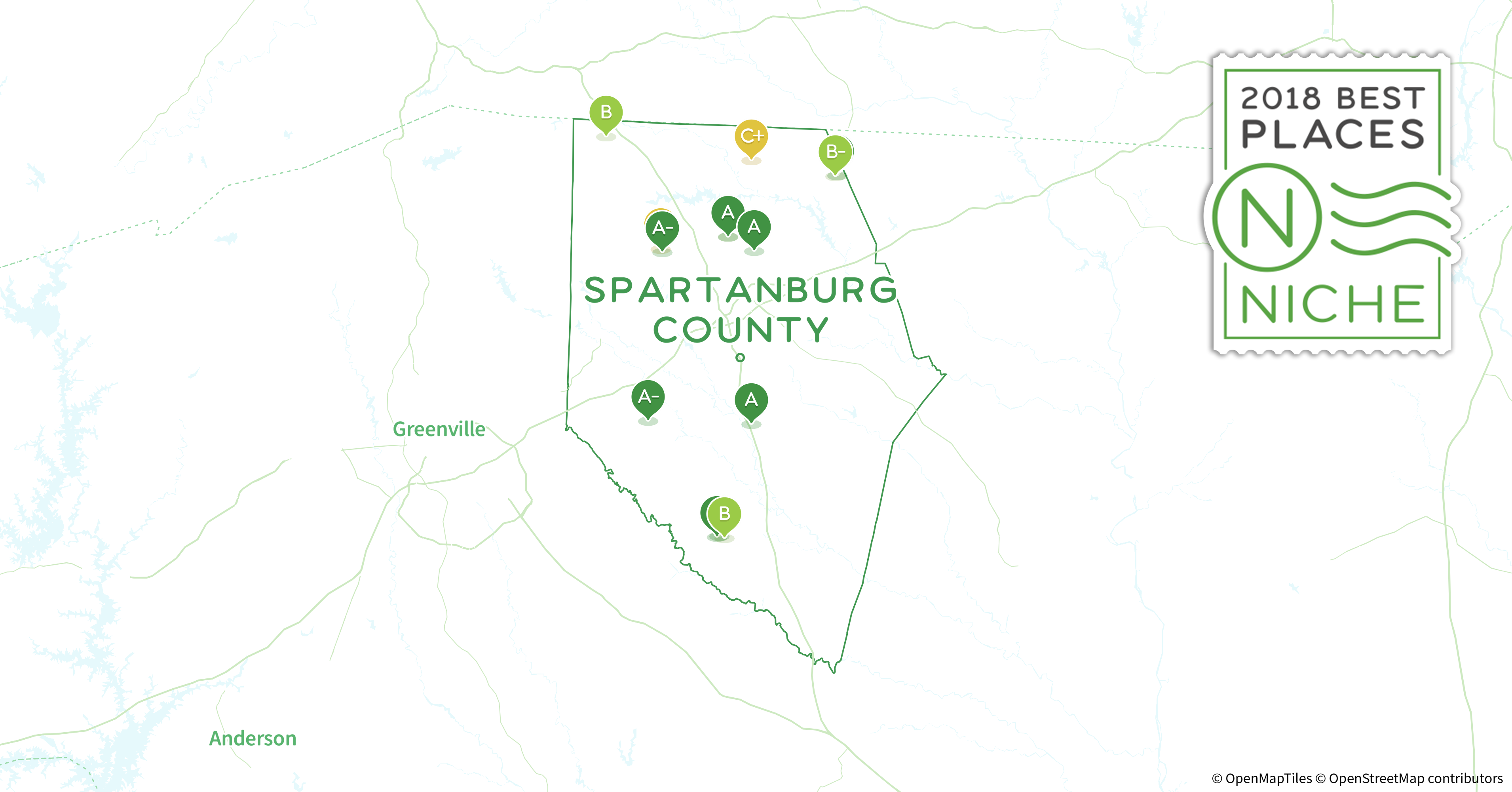 2018 Best Places To Live In Spartanburg County Sc Niche