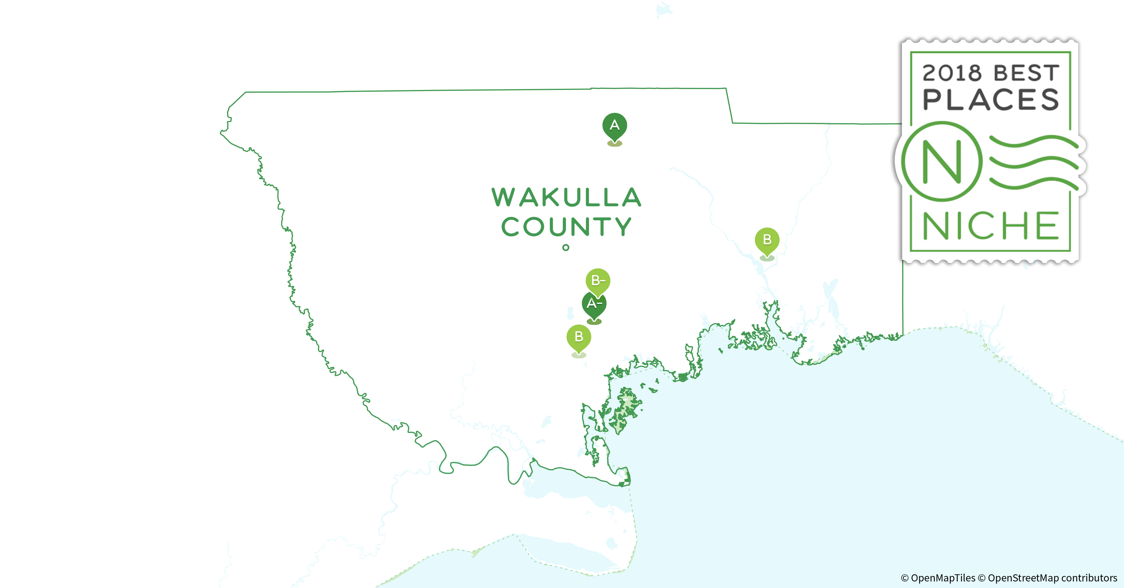 Map Of Wakulla County Florida.2018 Best Places To Live In Wakulla County Fl Niche
