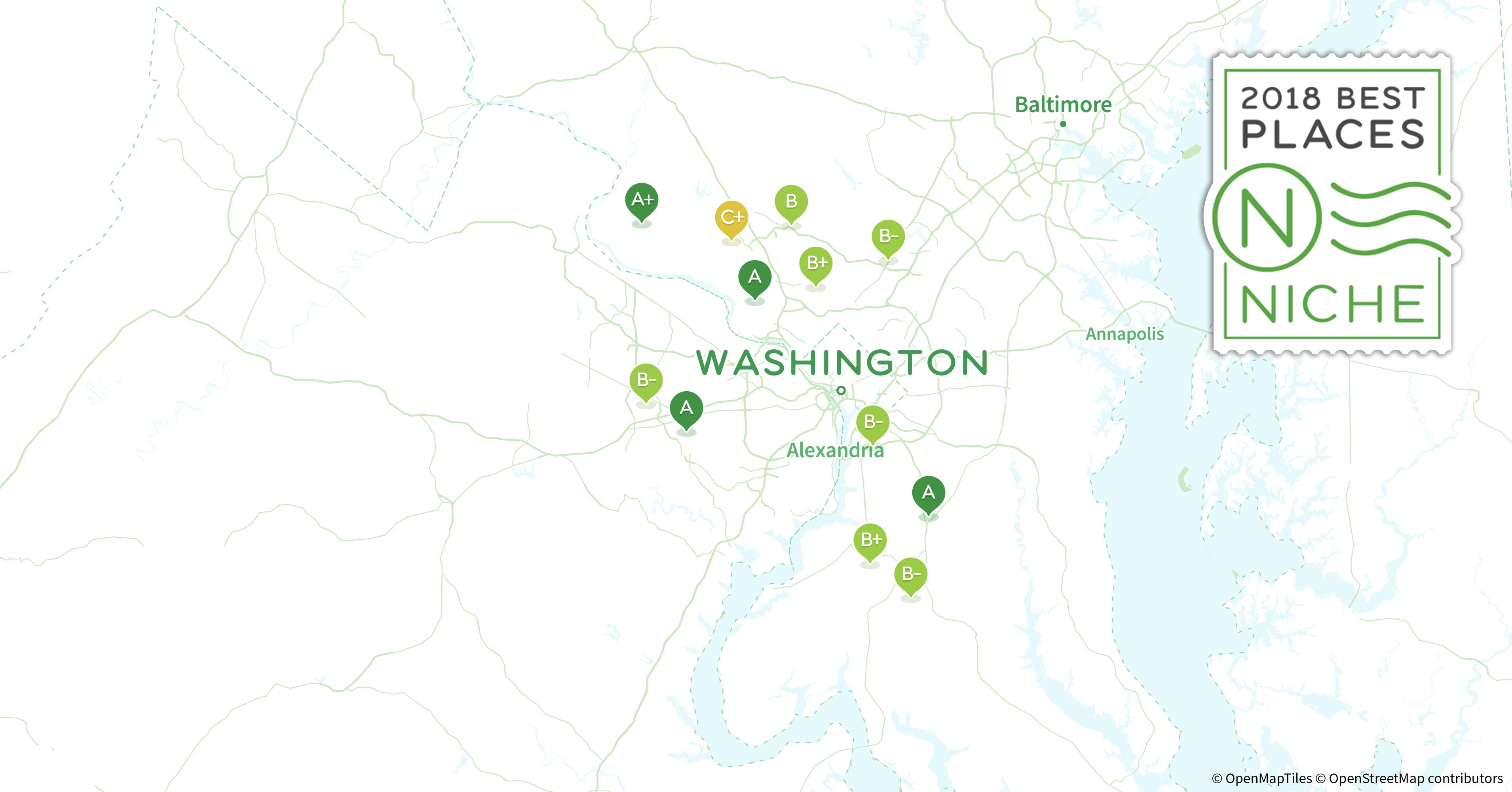 2018 Safest Suburbs of Washington D C Area Niche