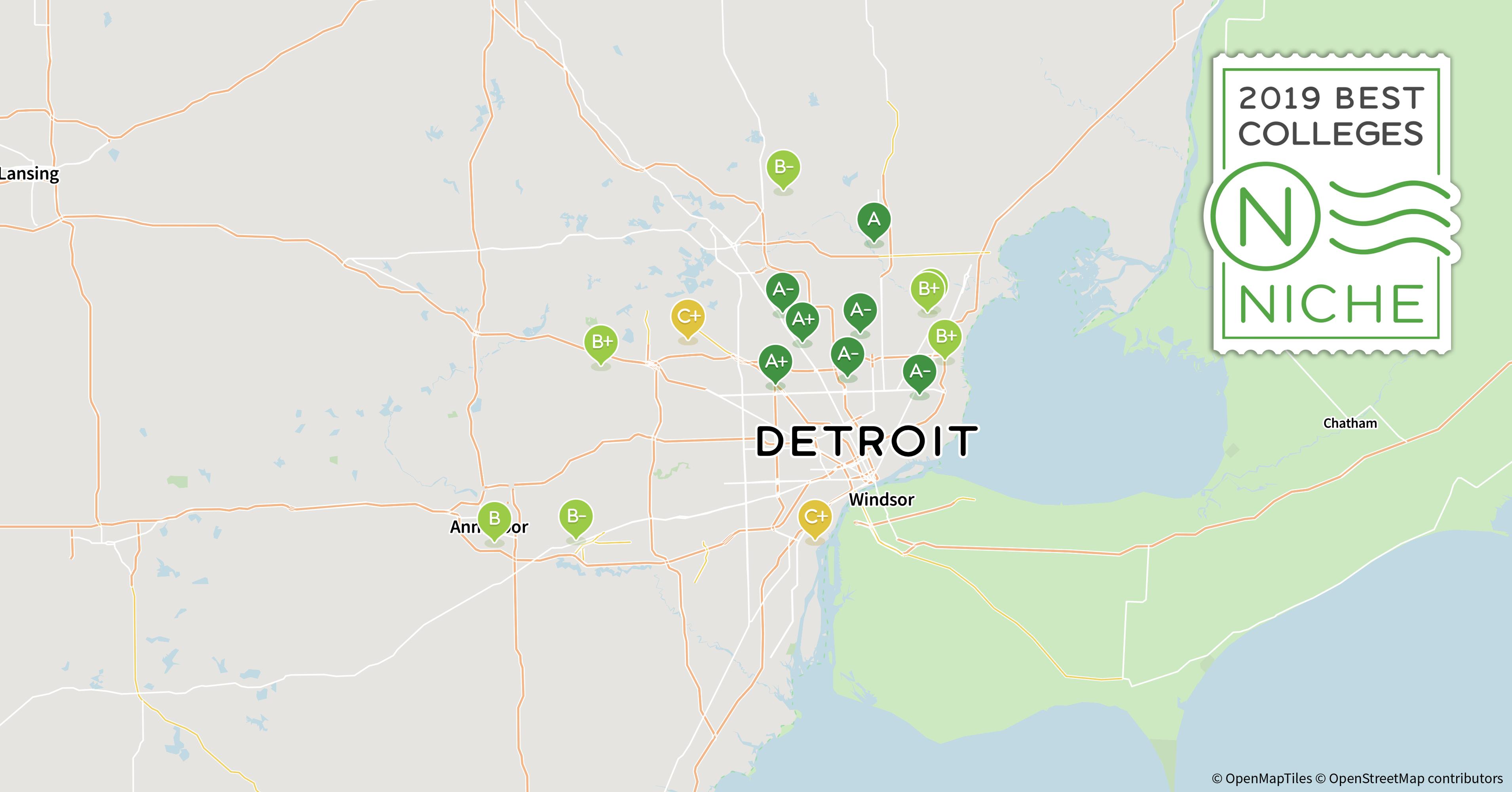 Occ Southfield Campus Map.2019 Best Nursing Schools In Detroit Area Niche