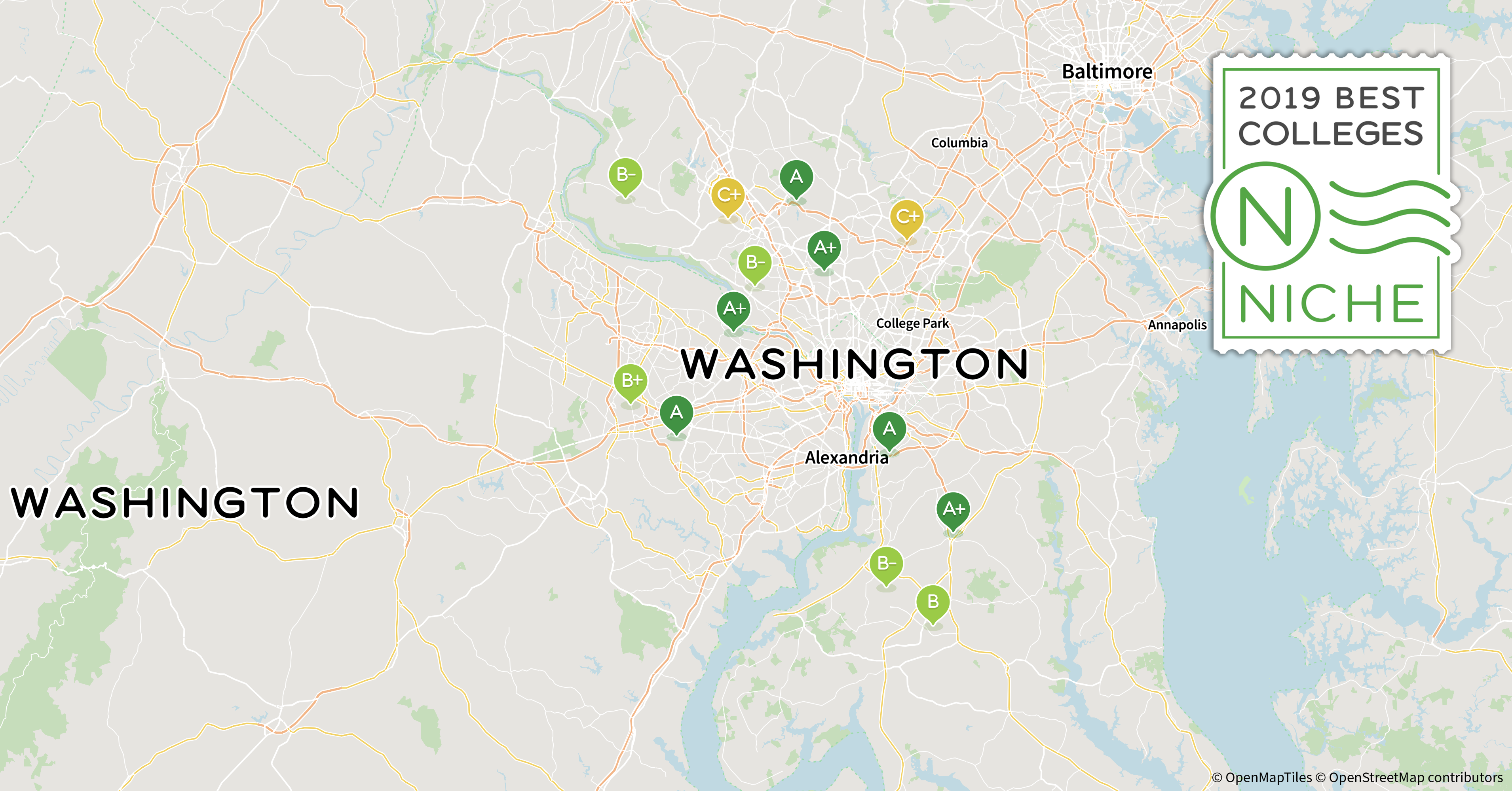 2019 Best Colleges in Washington, D.C. Area - Niche