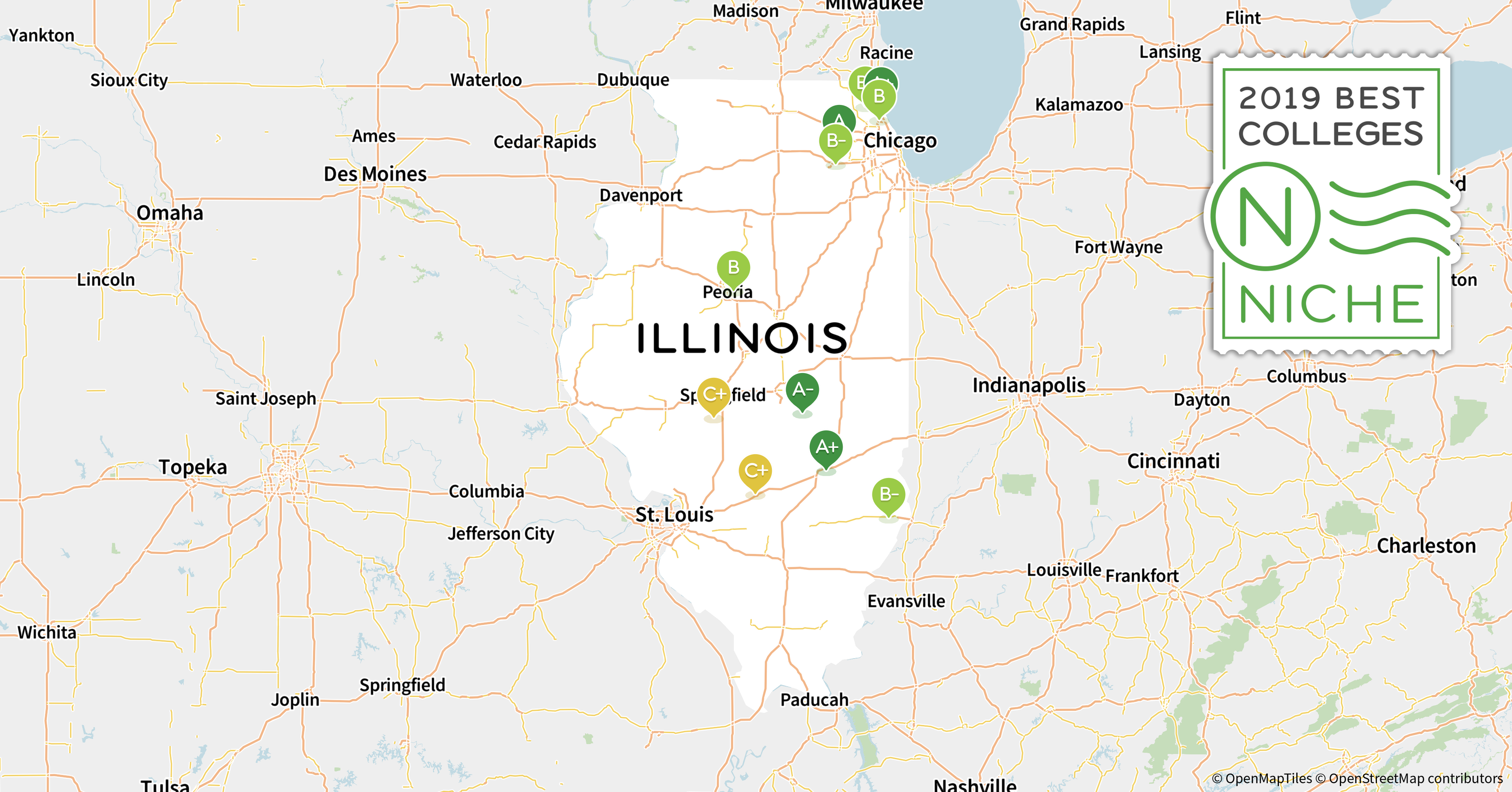 University Of Illinois Map 2019 Best Colleges in Illinois   Niche