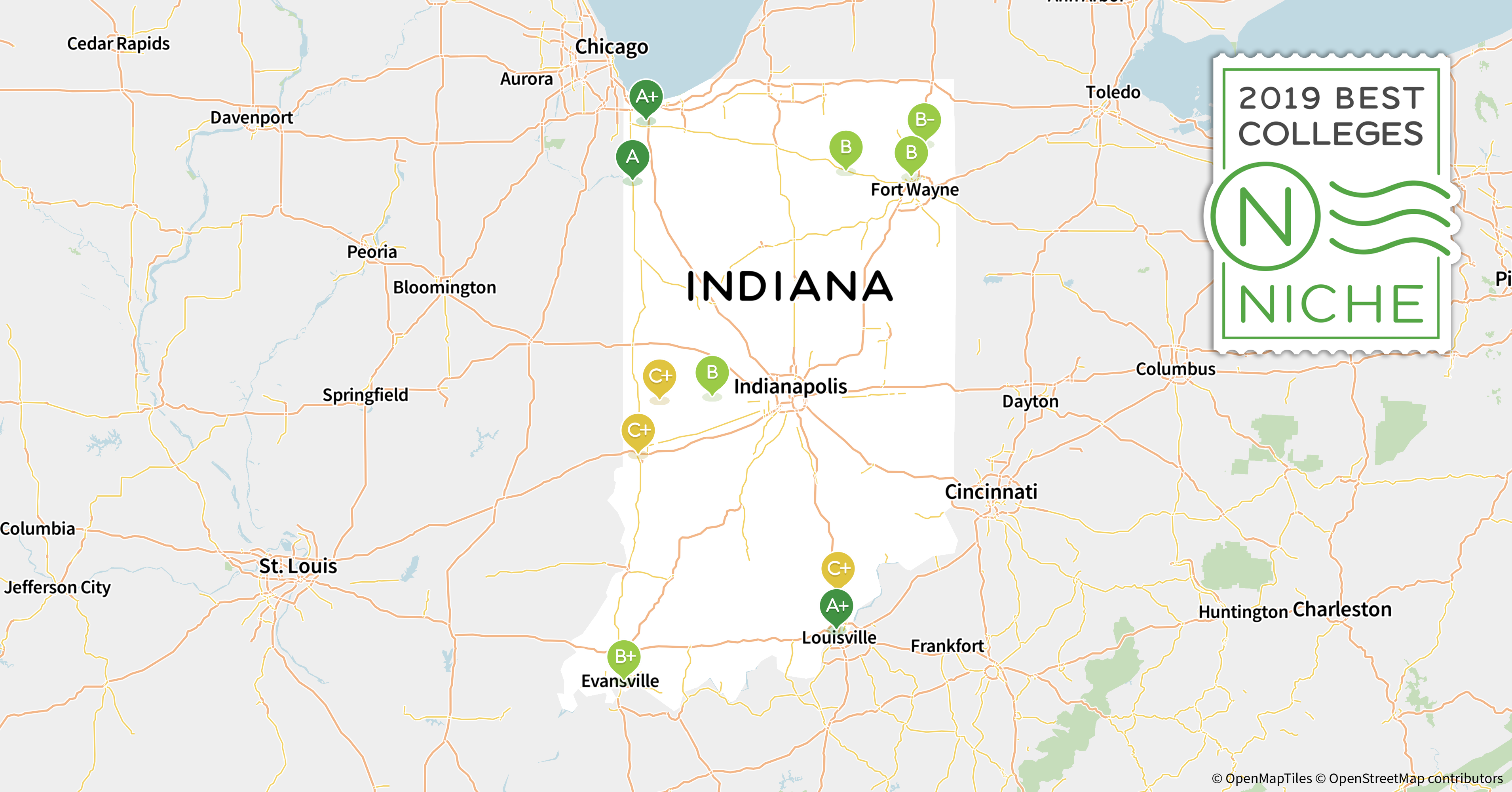 2019 Best Colleges in Indiana - Niche Indiana State Map Usa on new mexico map usa, virginia map usa, oregon map usa, indiana road map of usa, akron map usa, indiana on map, united states political map usa, indiana city usa, tulsa map usa, oklahoma map usa, michigan map usa, montana map usa, yale map usa, columbia map usa, kentucky map usa, minnesota map usa, show map of indiana usa, iowa map usa, mississippi map usa, evansville map usa,