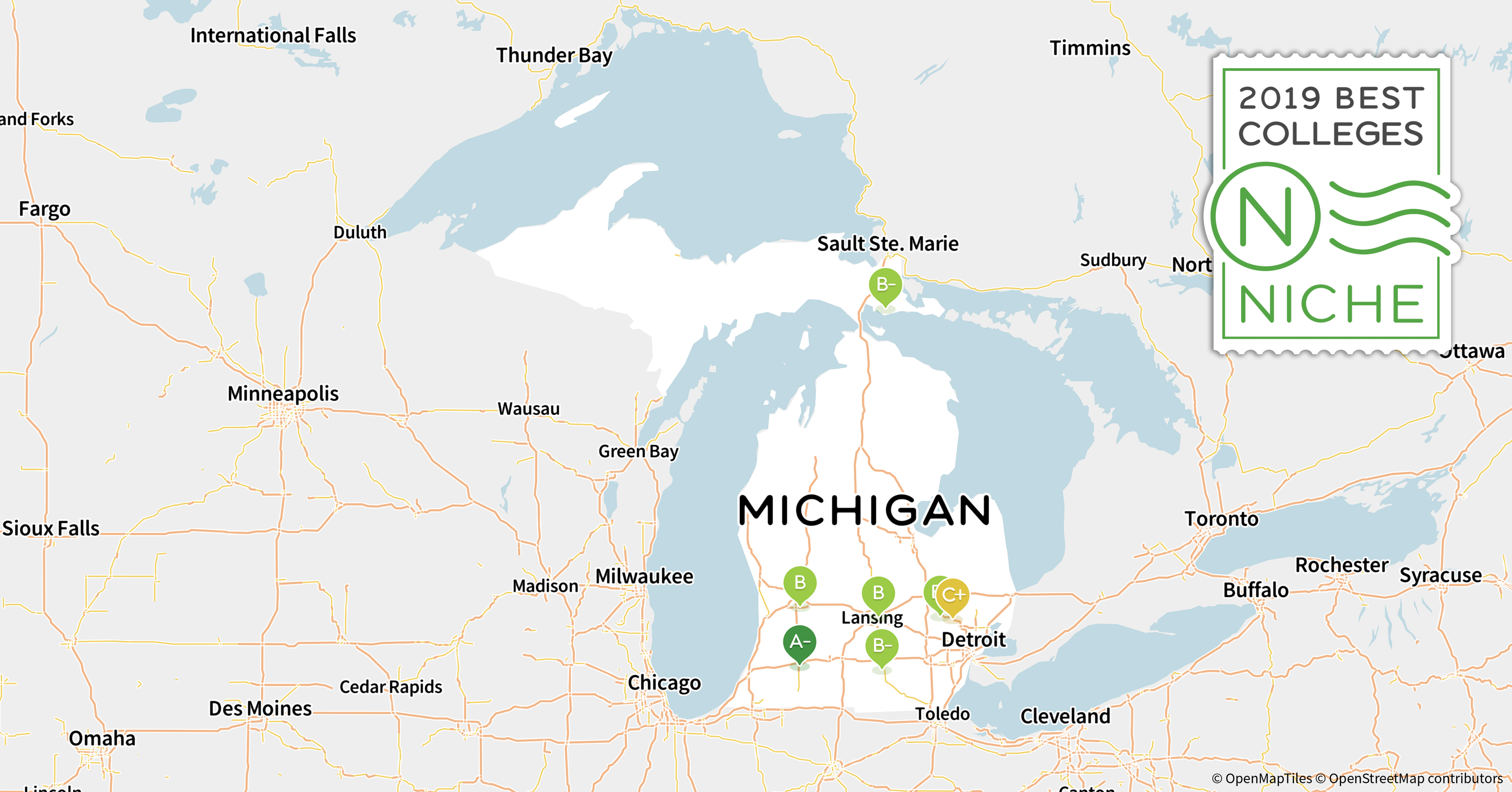 Spring Arbor Michigan Map.2019 Best Colleges In Michigan Niche