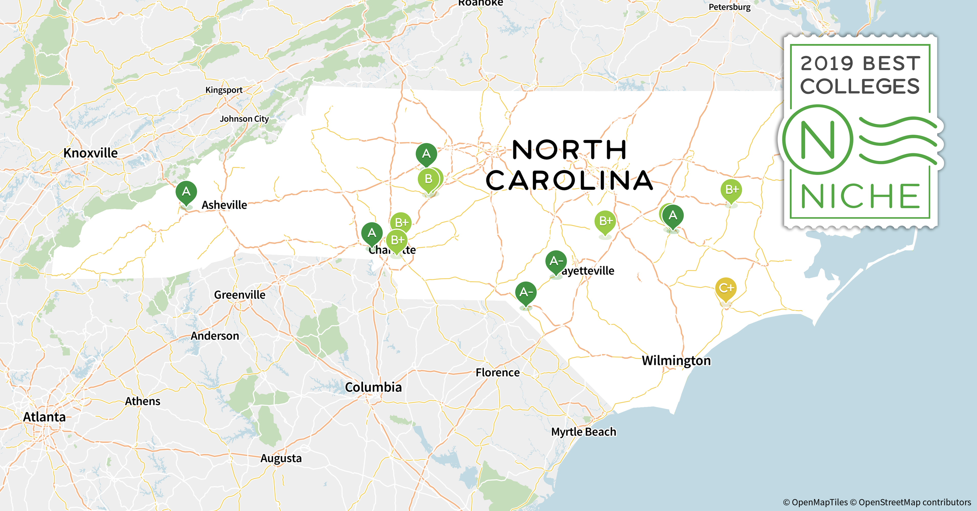 Unc Greensboro Campus Map.2019 Best Colleges In North Carolina Niche