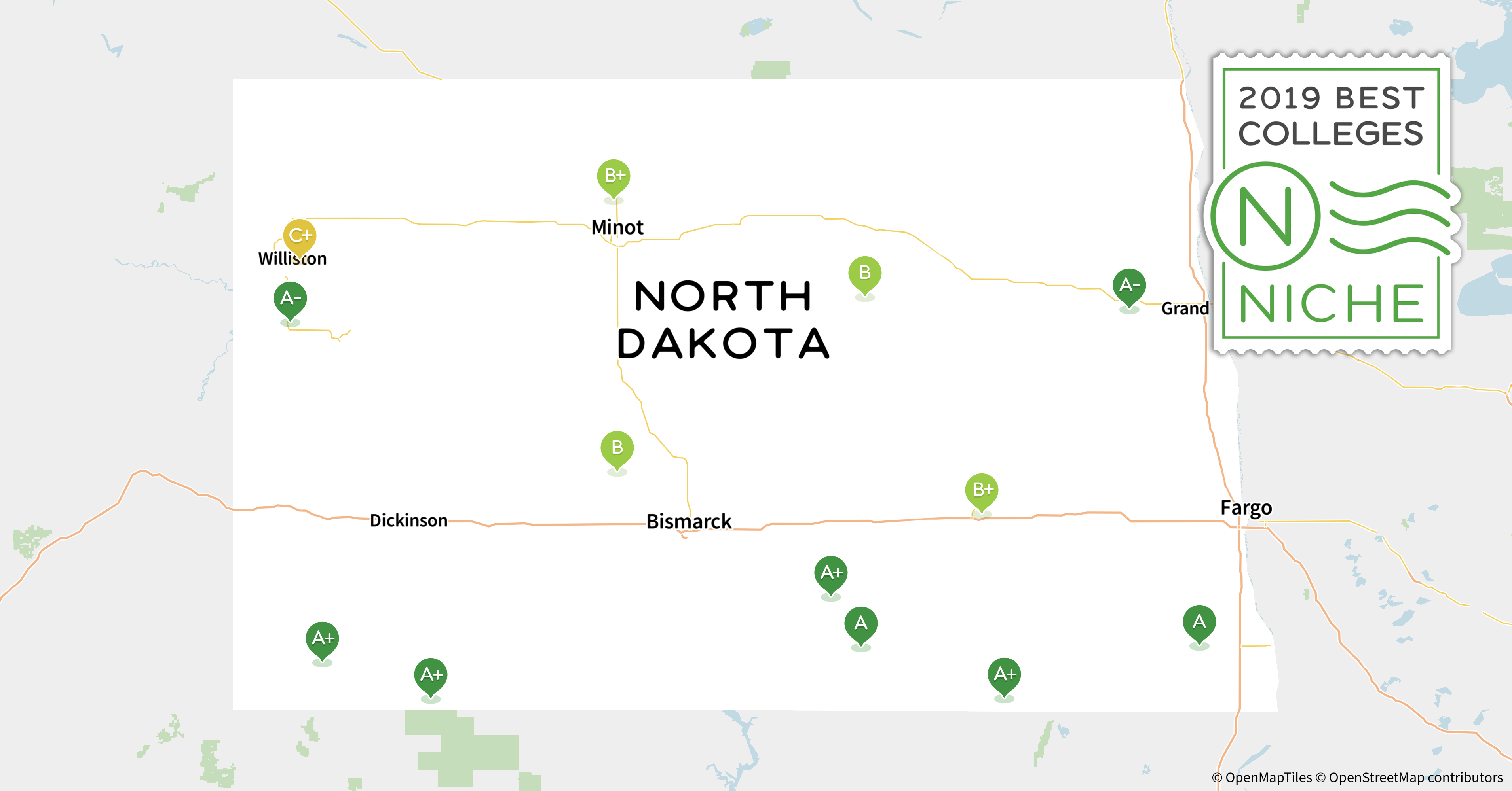 Minot State University Campus Map.2019 Top Party Schools In North Dakota Niche