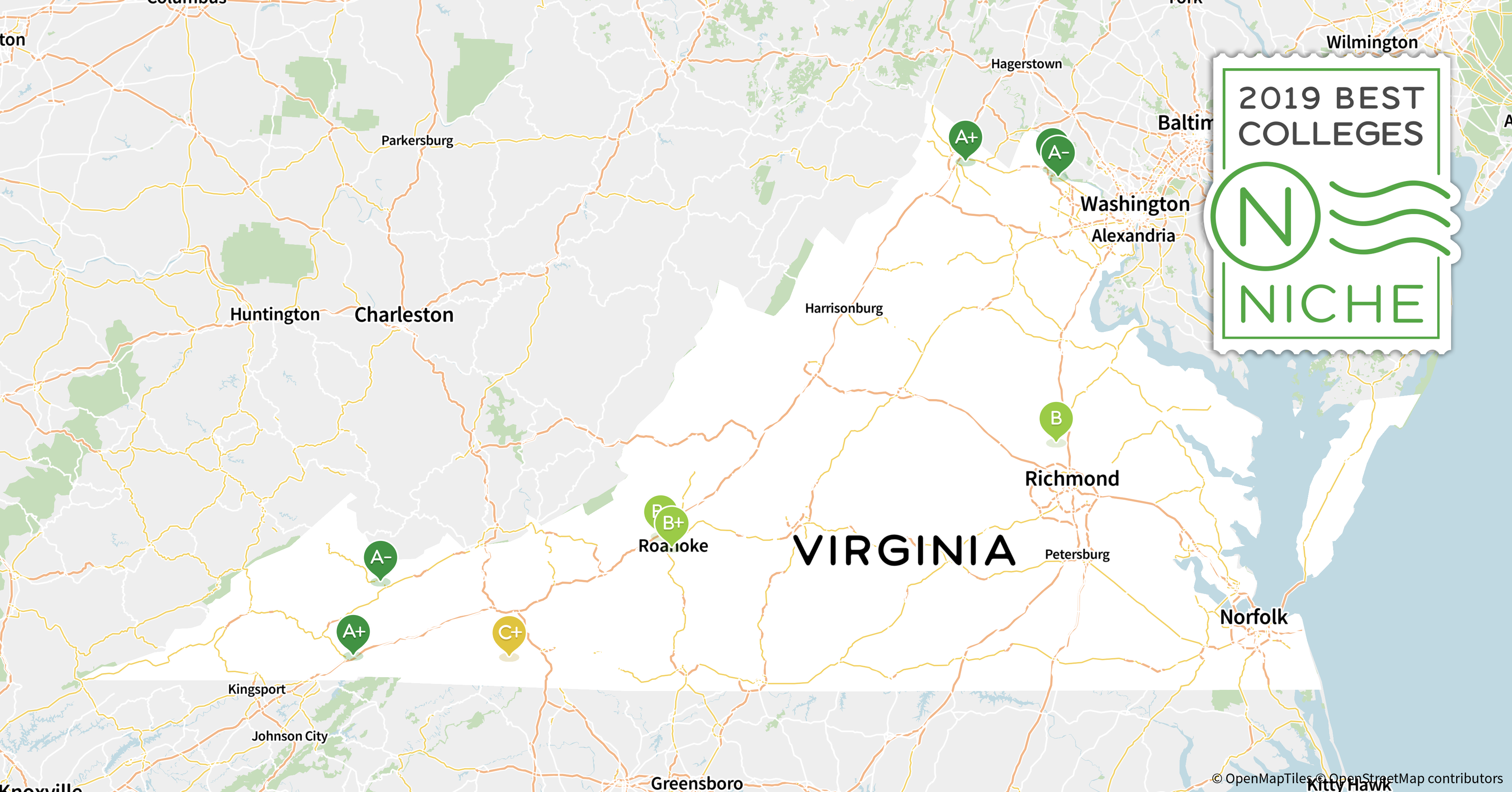 Norfolk State Campus Map.2019 Top Public Universities In Virginia Niche
