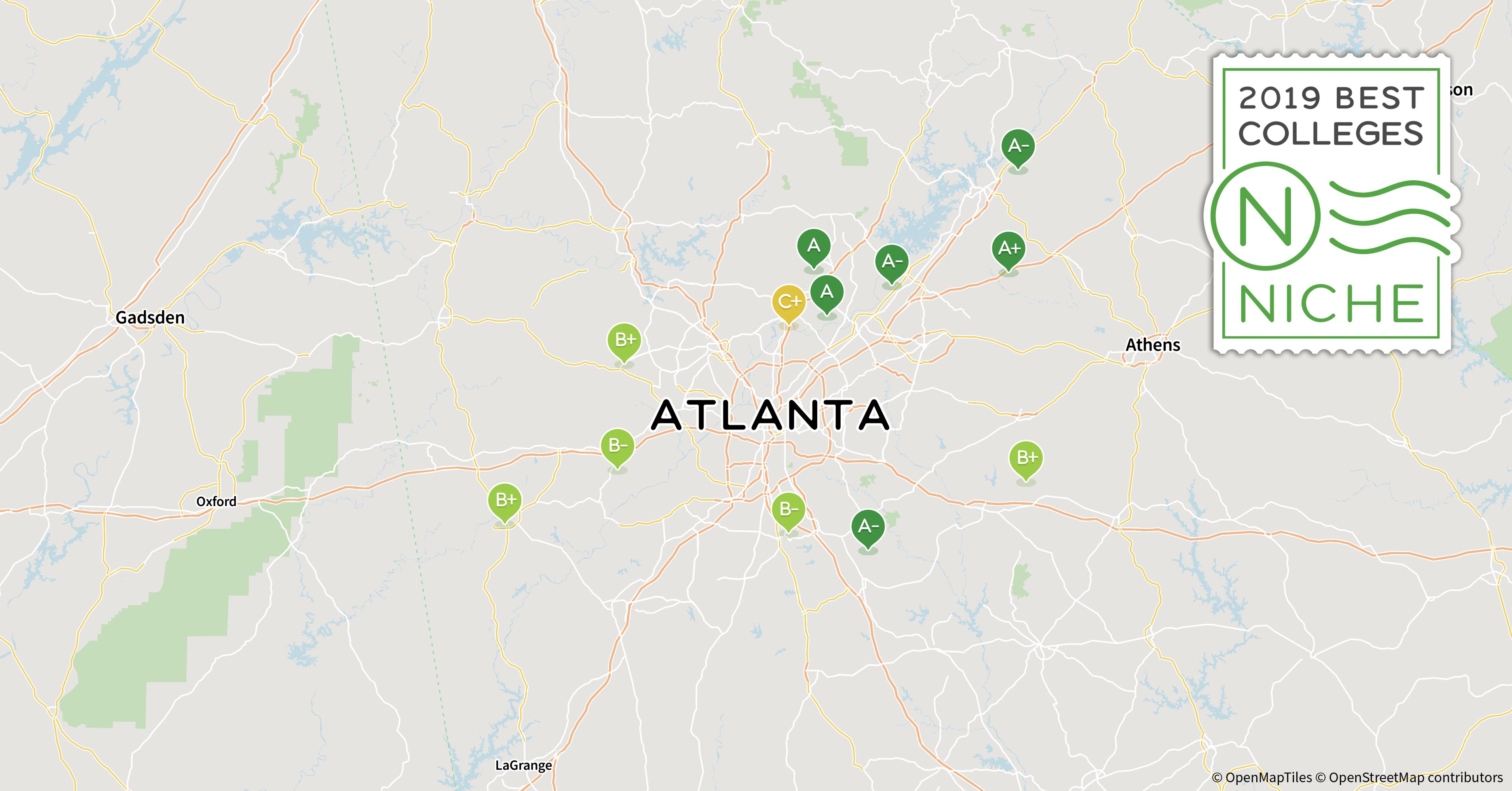 Map Of Georgia Universities.2019 Top Graduate Programs In The Atlanta Area Niche