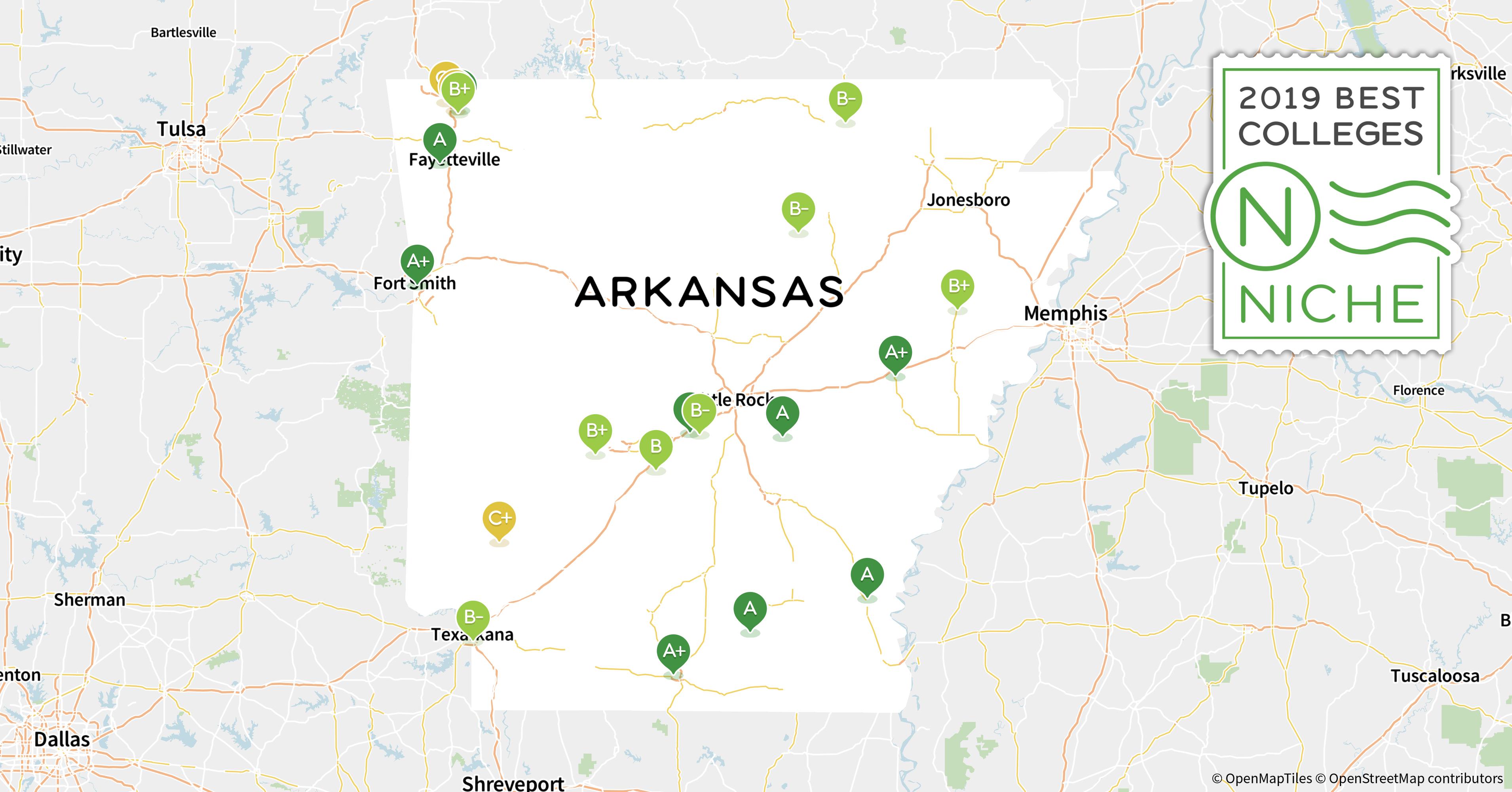 universities in arkansas map 2020 Top Graduate Programs In Arkansas Niche