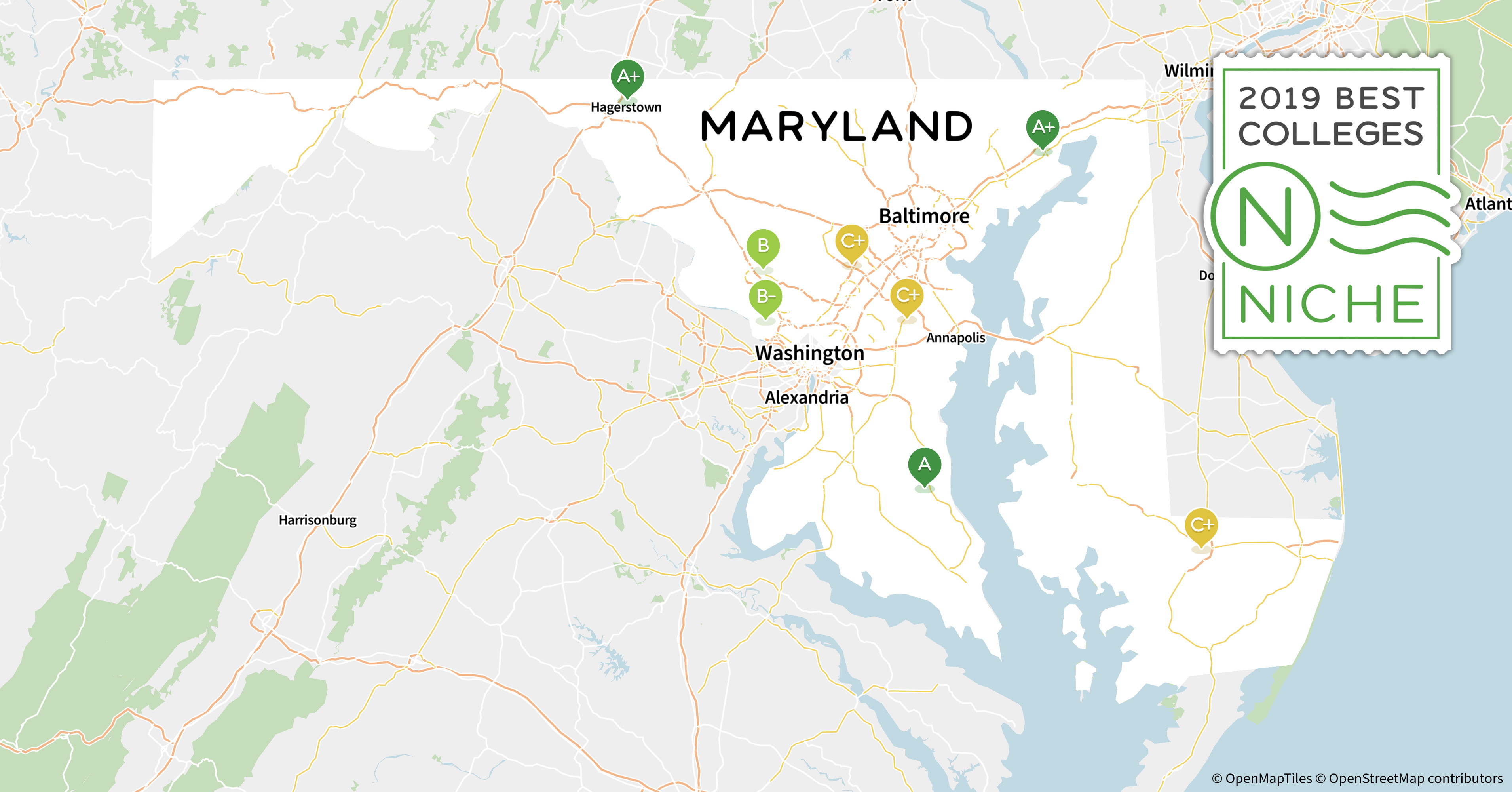 colleges in maryland map 2020 Top Graduate Programs In Maryland Niche colleges in maryland map