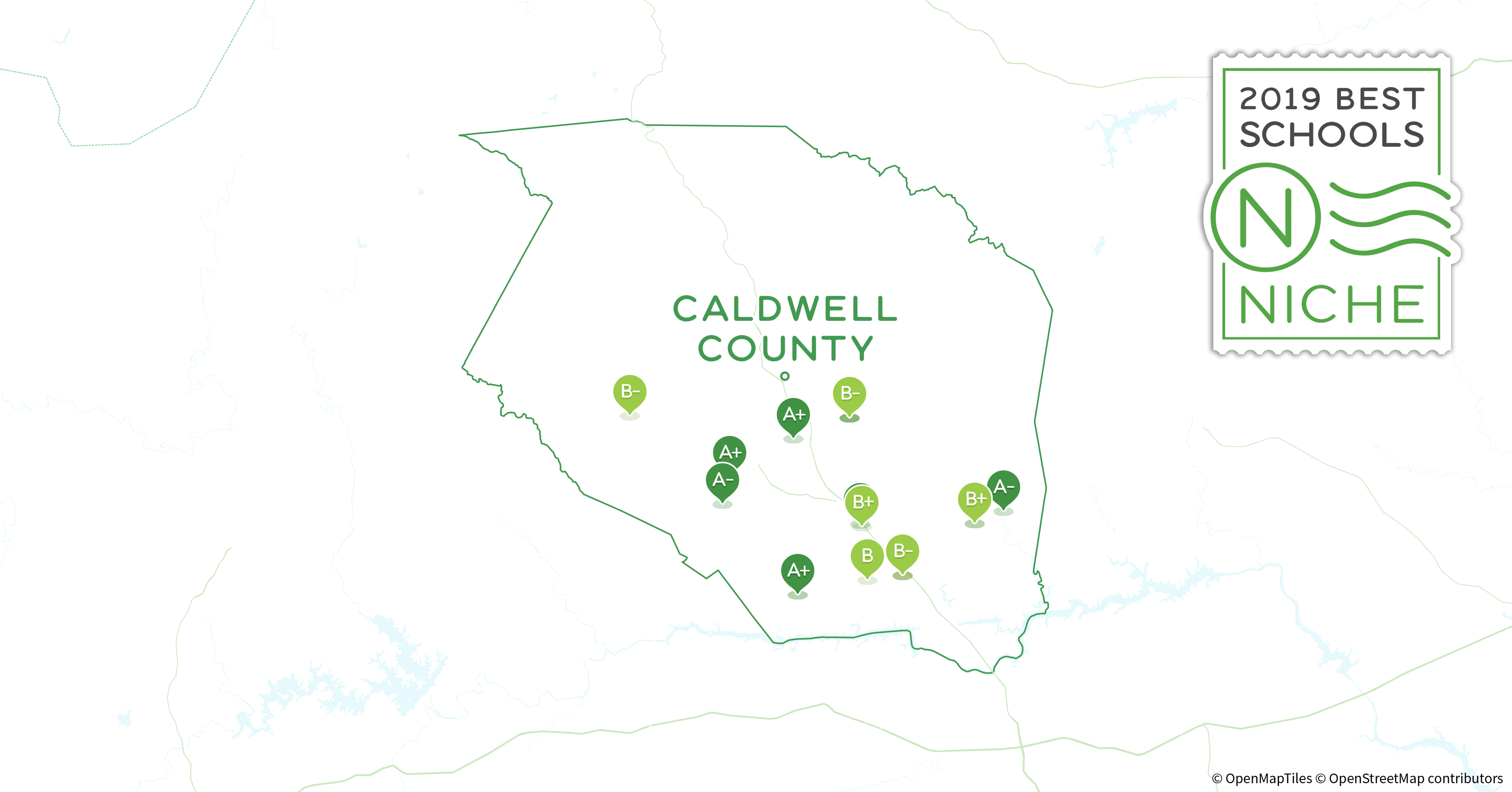 2019 Best Public Middle s in Caldwell County, NC - Niche Caldwell County Nc Map on