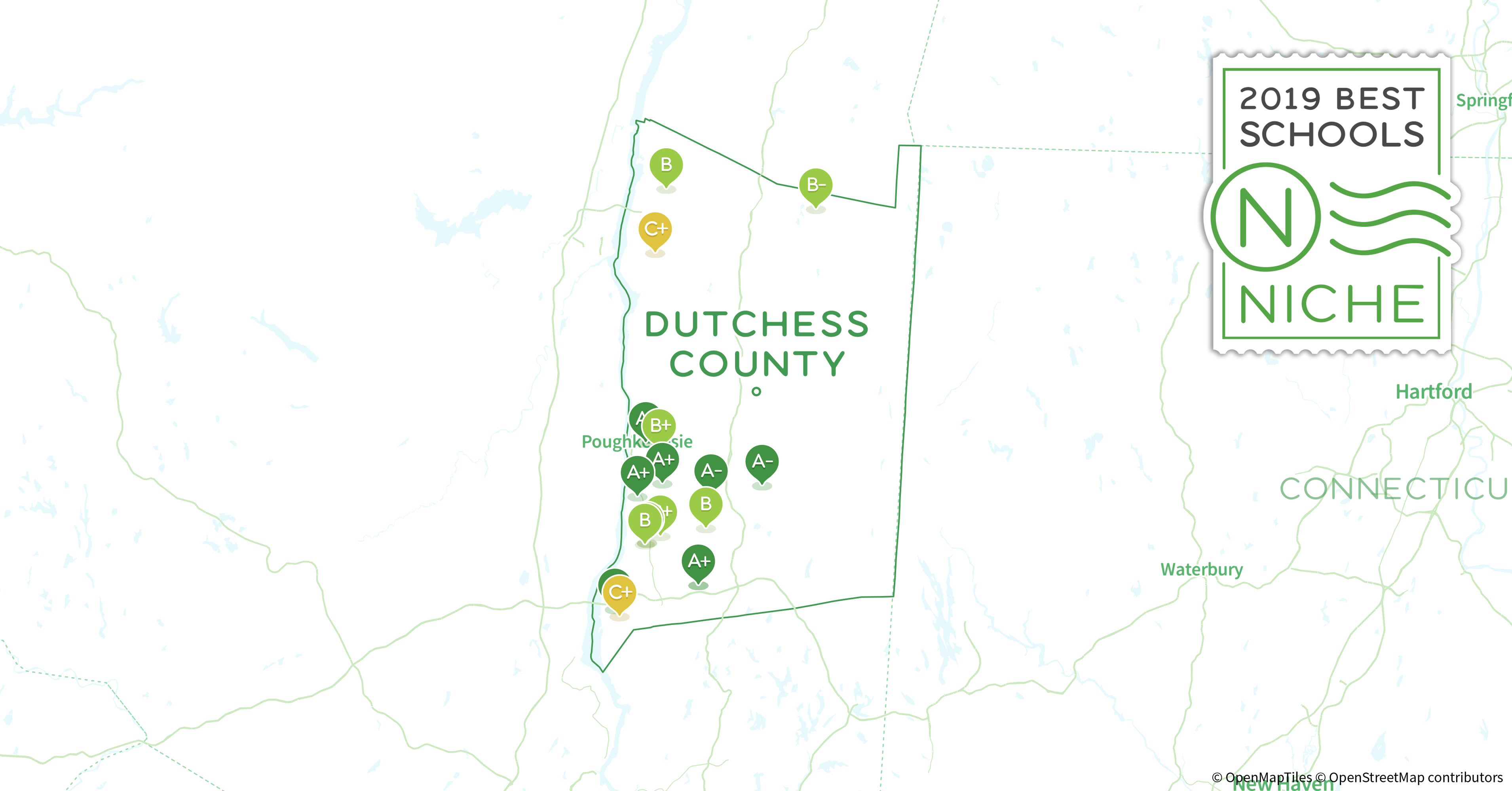 2019 Best Public Elementary s in Dutchess County, NY - Niche Dutchess County Map on