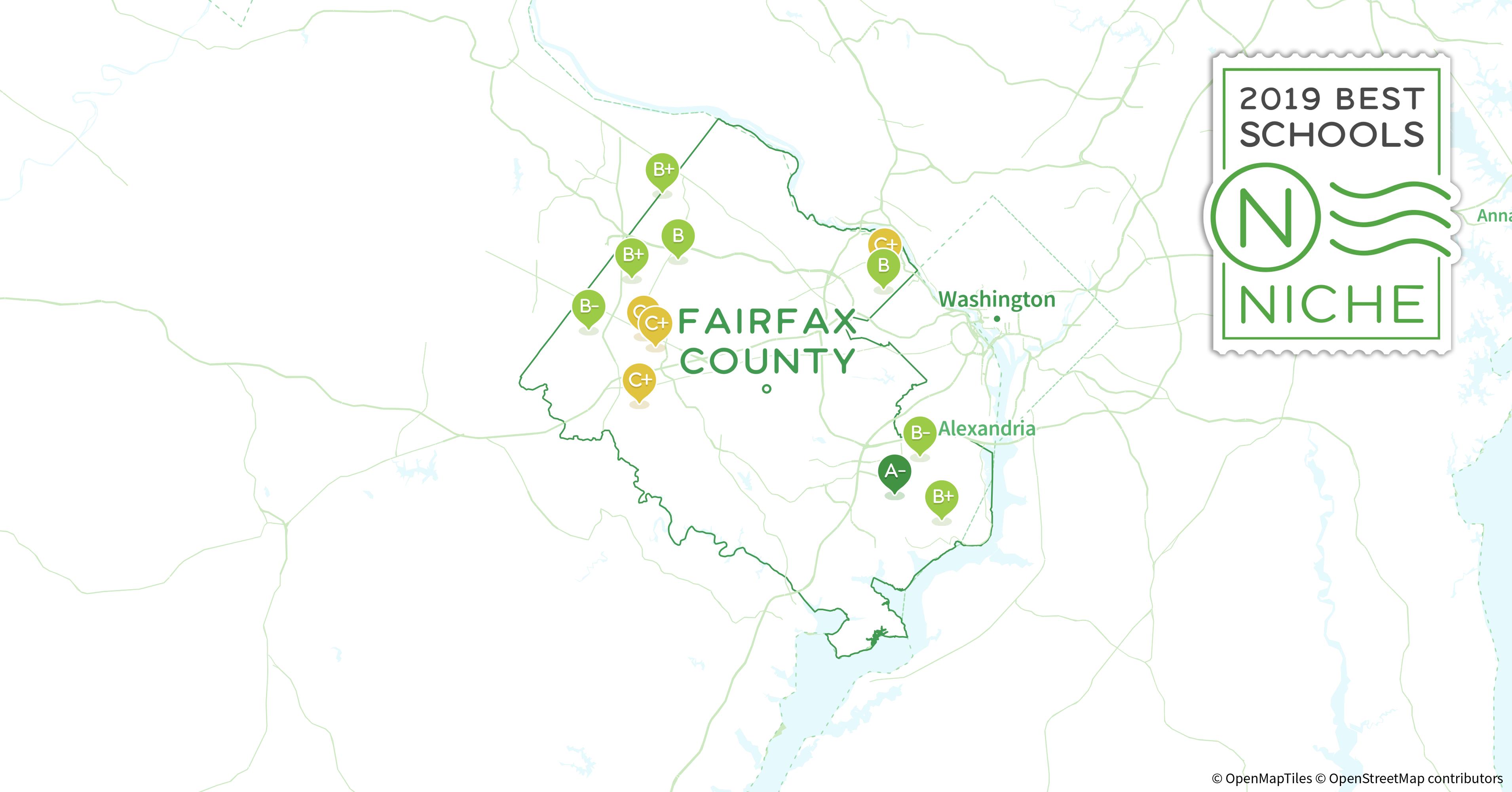 Fairfax Zip Code Map.2019 Best Public Elementary Schools In Fairfax County Va Niche