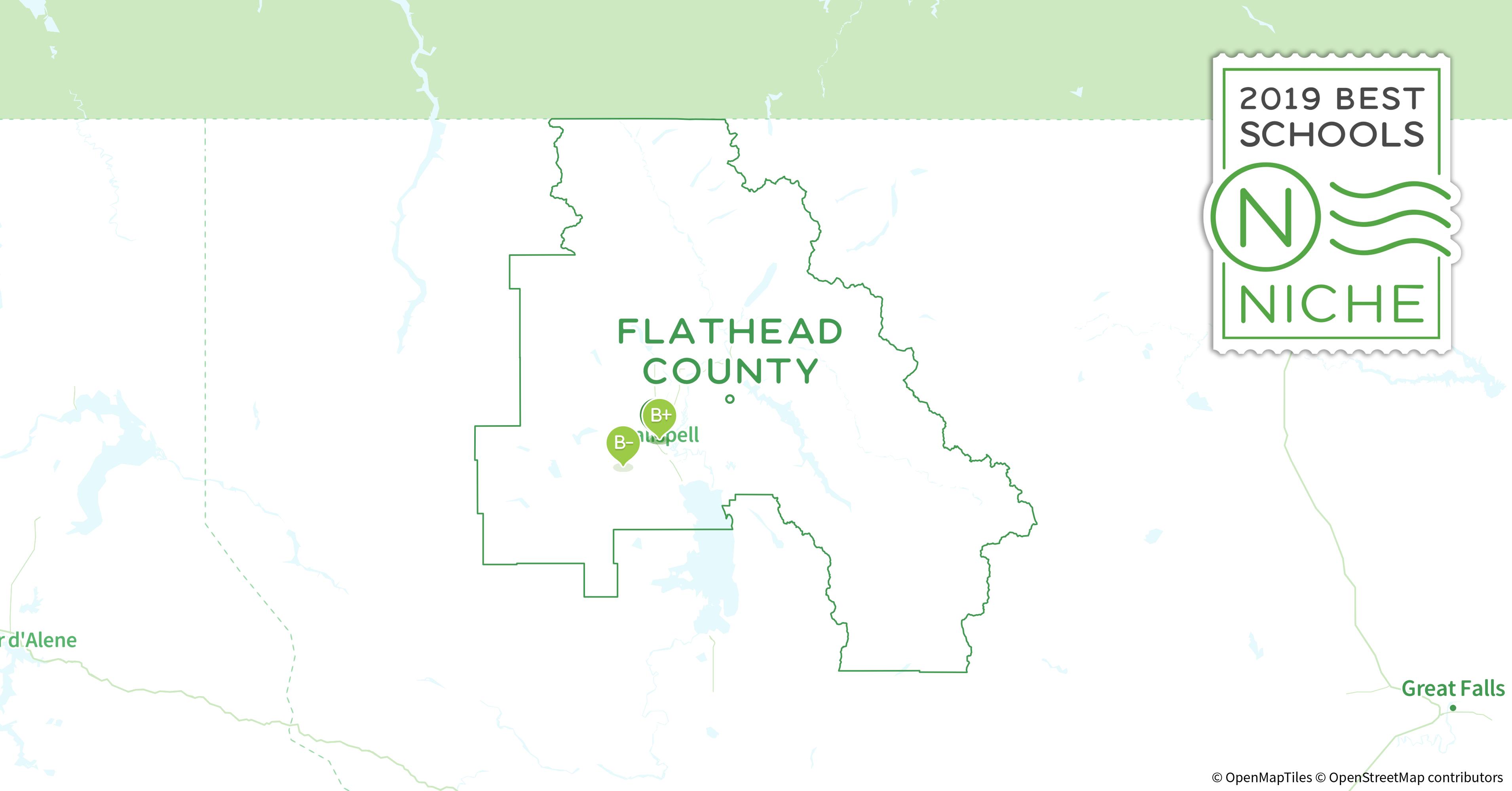 Kalispell Zip Code Map.School Districts In Flathead County Mt Niche