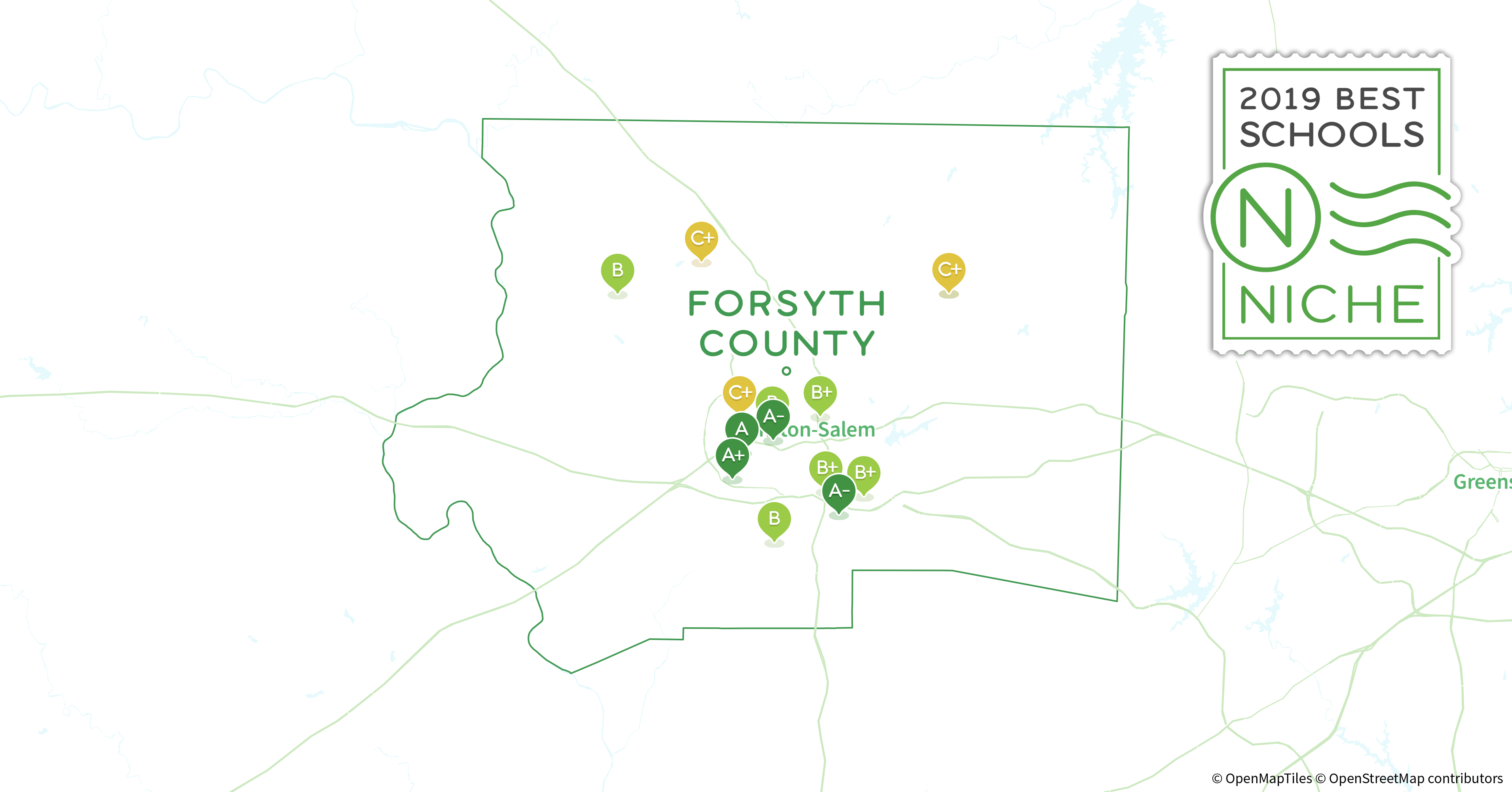 Forsyth Tech Main Campus Map.2019 Best Public Middle Schools In Forsyth County Nc Niche