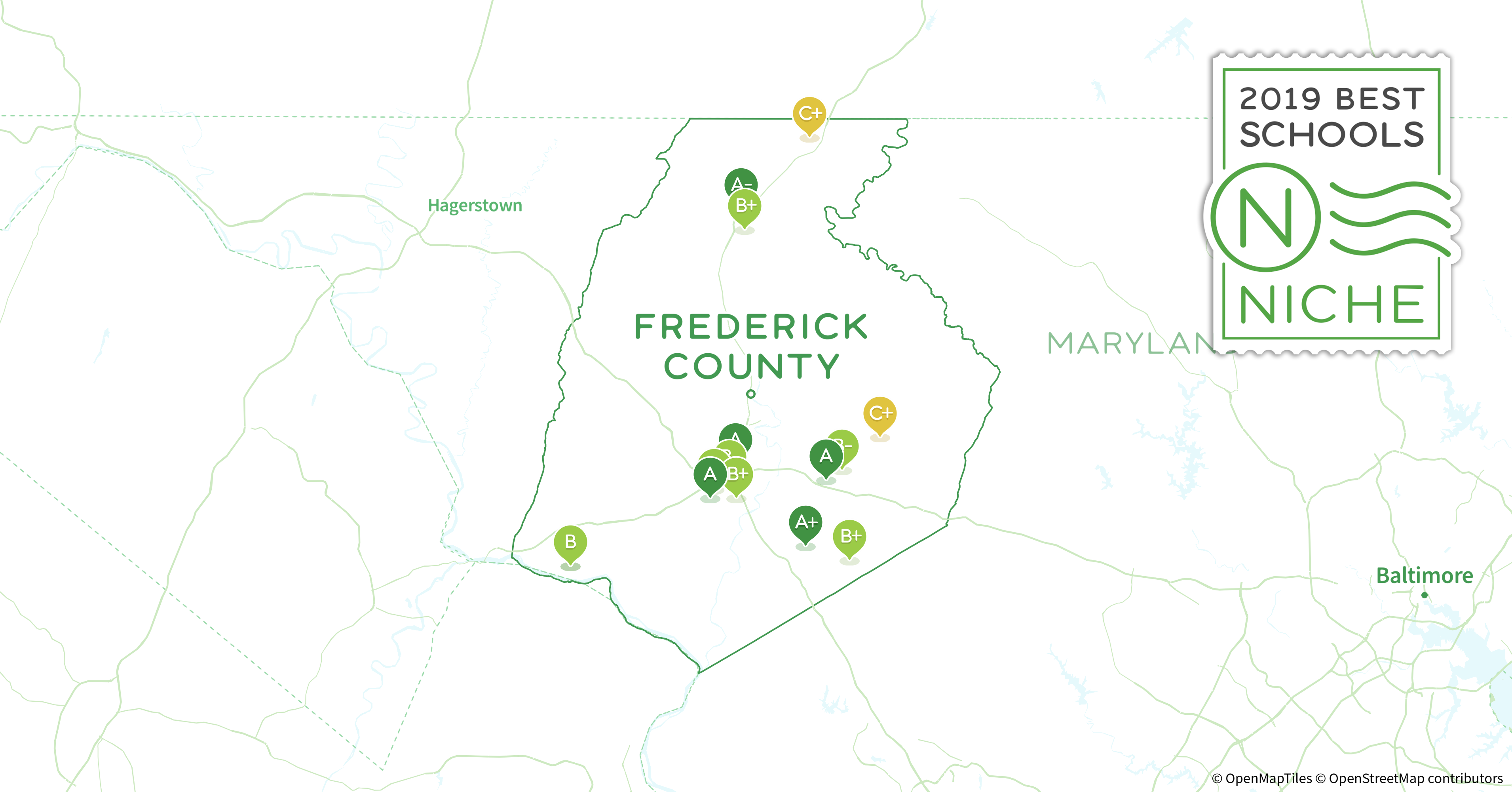 Frederick County Md Zip Code Map.2019 Best Public High Schools In Frederick County Md Niche
