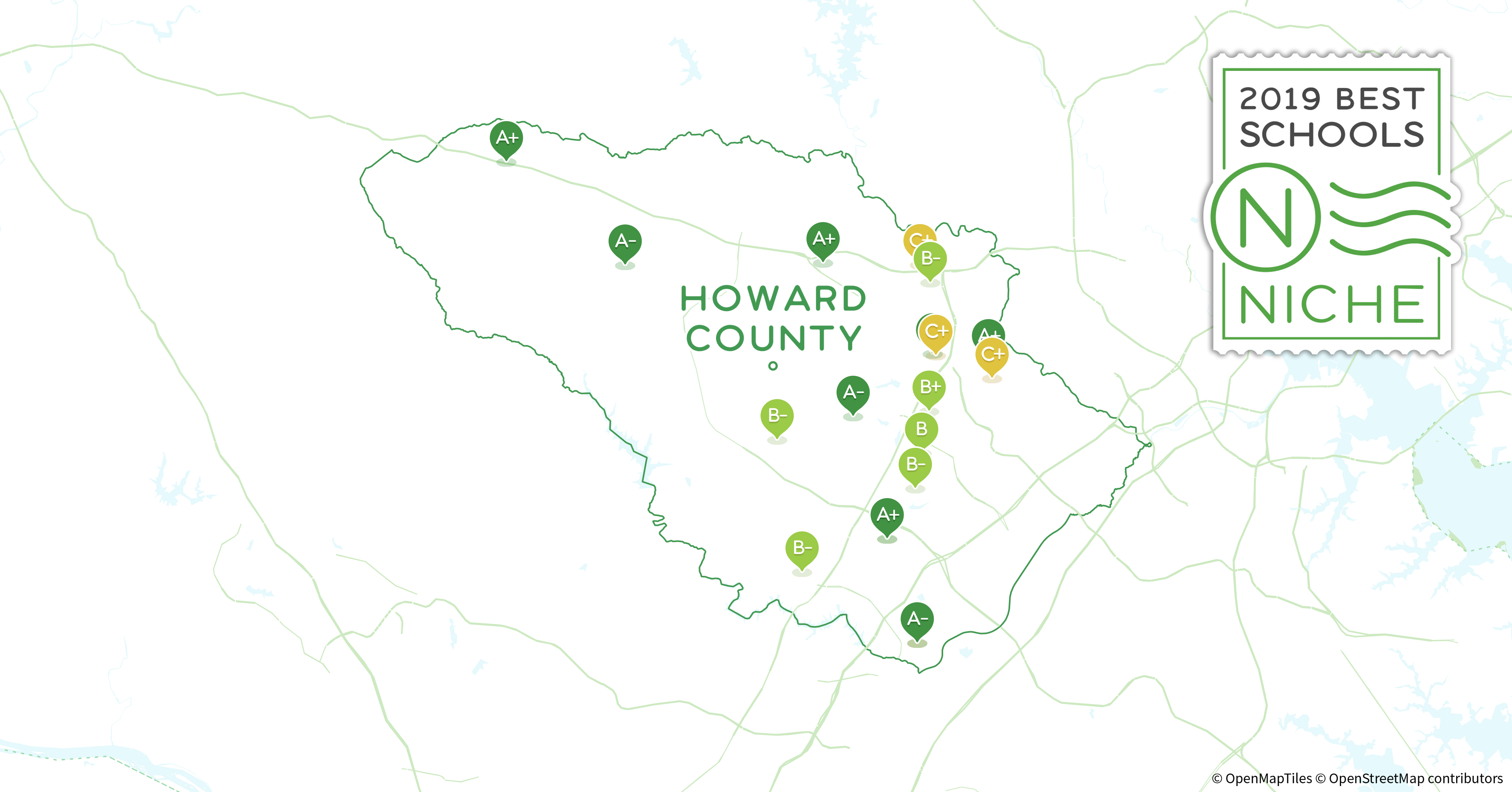 Howard County Md Zip Code Map.Private Schools In Howard County Md Niche
