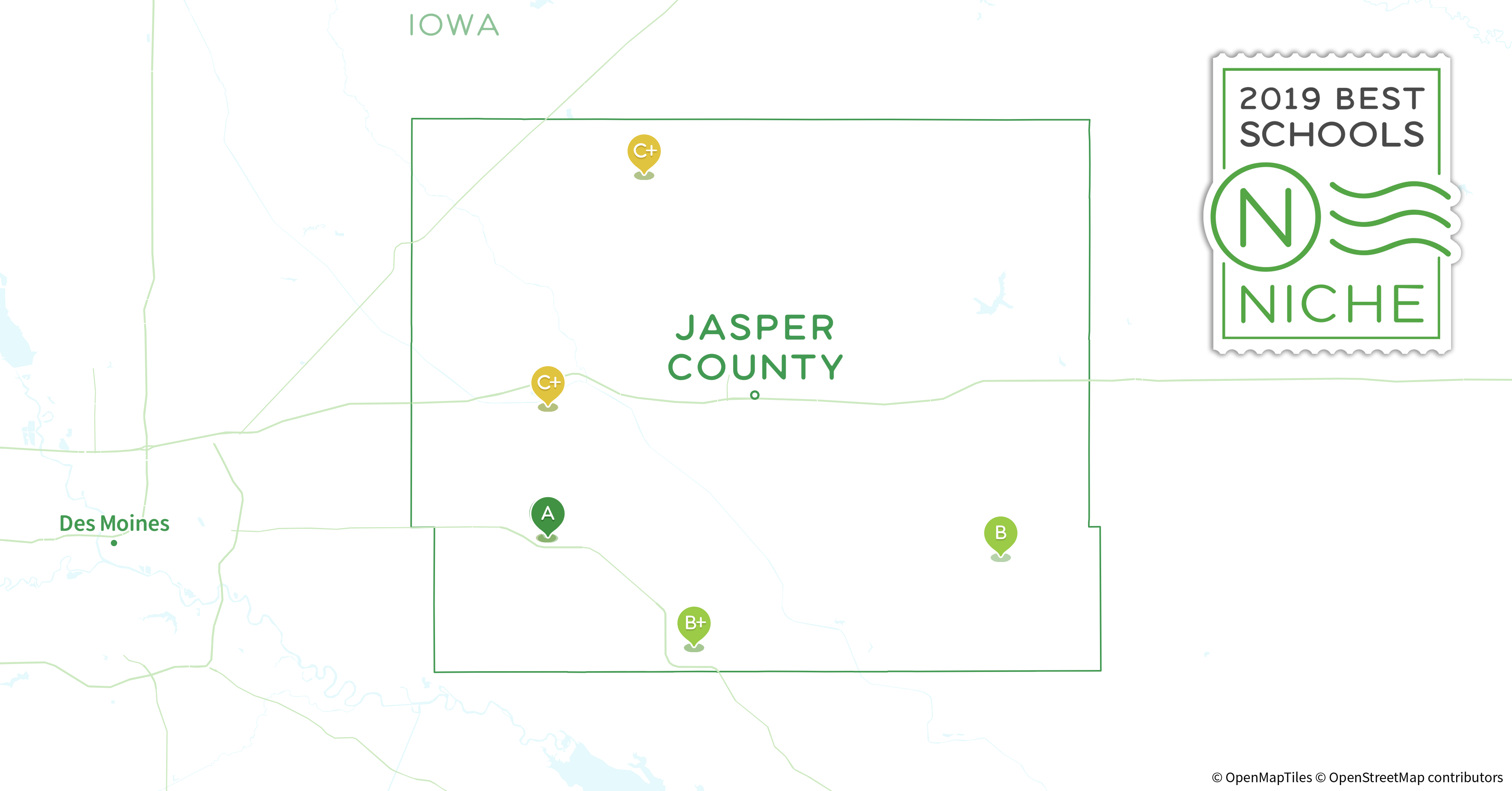 Jasper County Iowa Map.School Districts In Jasper County Ia Niche