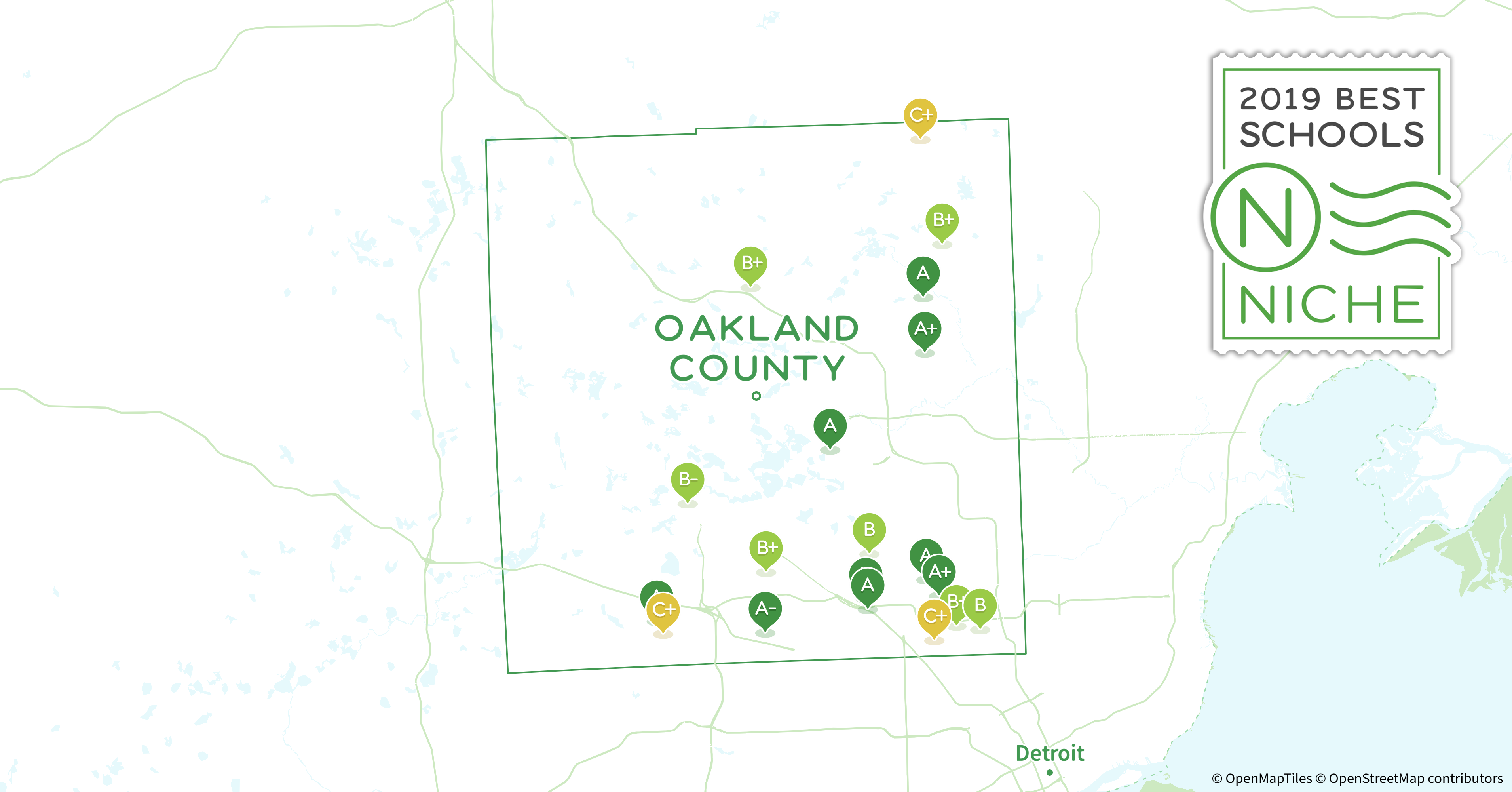 2019 Most Diverse Public High s in Oakland County, MI ... Map Oakland County Mi on oakland county section map, oakland county jail, oakland county sheriff, oakland county drain map, oakland county complex map, oakland county plat map, oakland county road map, oakland county city map, oakland county detroit, oakland county township map, oakland county district map, macomb county drain map, oakland county map view, oakland zip codes by map, oakland michigan map, village lake orion michigan map, oakland county map printable, oakland university map, michigan county map, oakland county townships and cities,