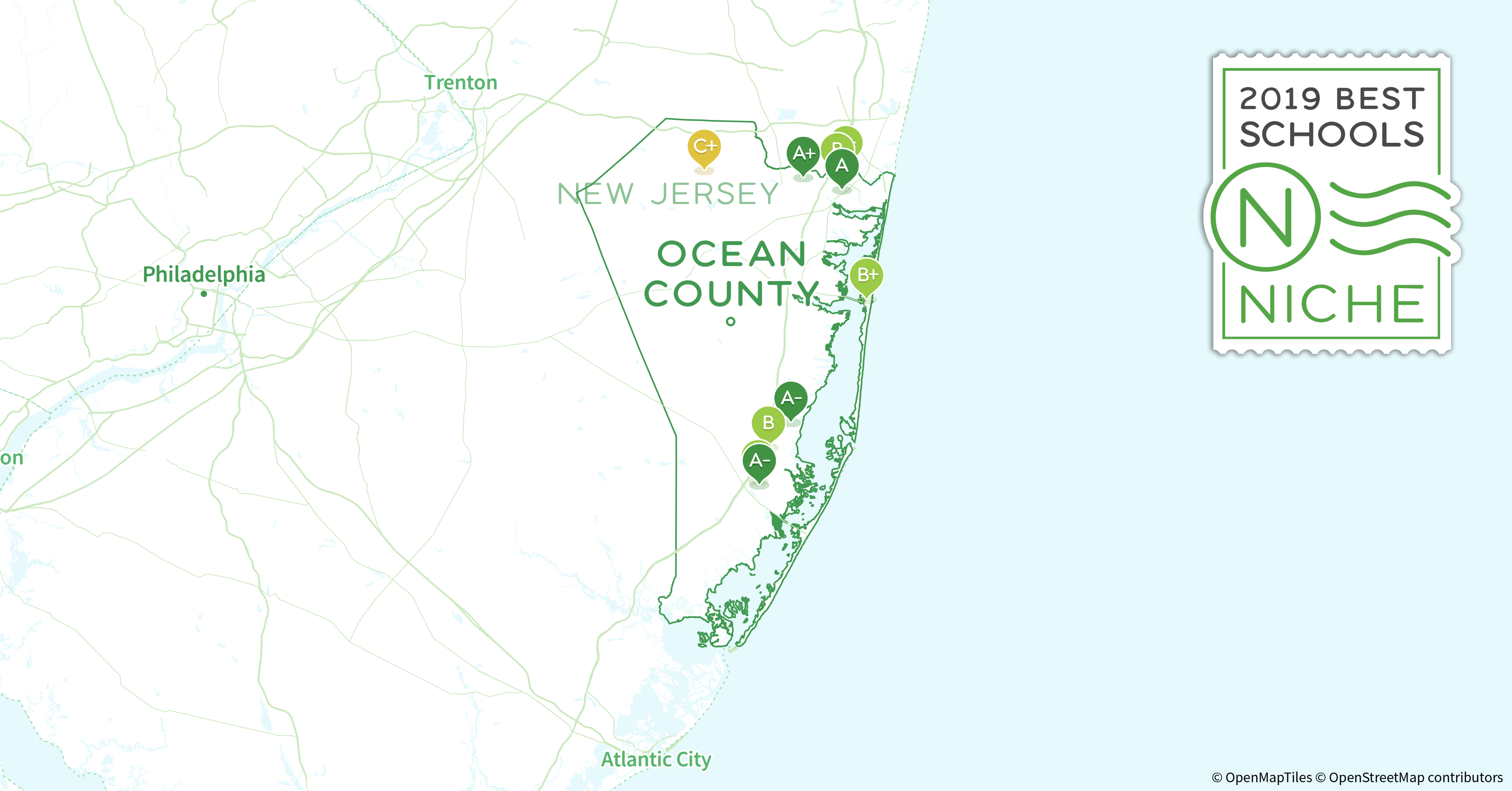 2019 Best Places to Teach in Ocean County, NJ - Niche Ocean County Nj Map on hunterdon county, asbury park nj map, vista center nj map, burlington county, passaic county, spray beach nj map, monterey beach nj map, seaside heights map, lower township nj map, jackson nj map, morris county, musconetcong river nj map, toms river nj map, delran township nj map, greenwich township nj map, six flags great adventure nj map, mercer county, cape may nj map, toms river, swainton nj map, seaside park nj map, new brunswick, hudson county, middlesex county, west windsor township nj map, atlantic county, brick nj on map, bergen county, somerset county, cape may county, camden county, ny nj pa counties map, union county, palisades interstate parkway nj map, warren county, cumberland county, essex county, monmouth county,