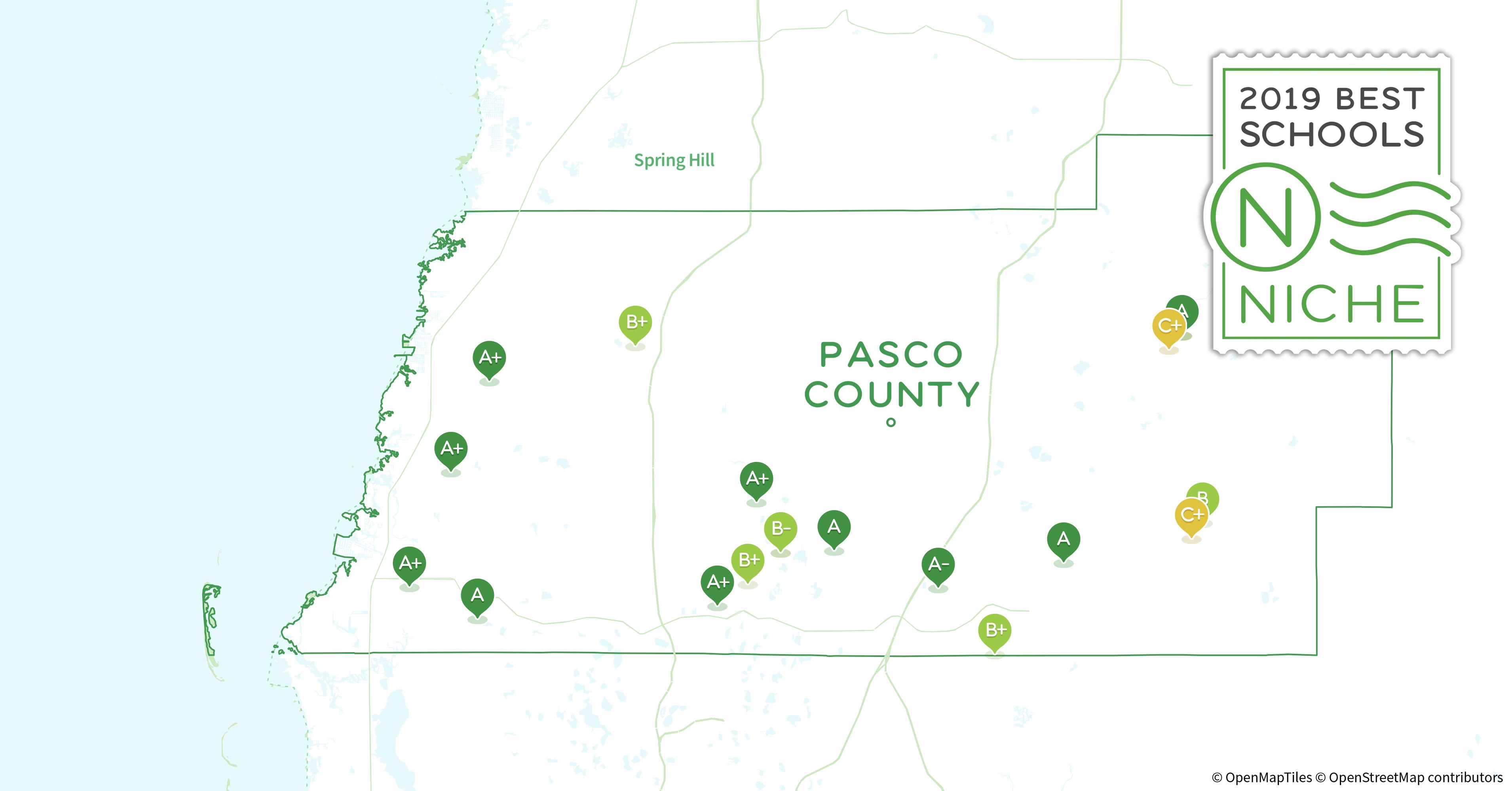 Pasco County Florida Map.Private Schools In Pasco County Fl Niche