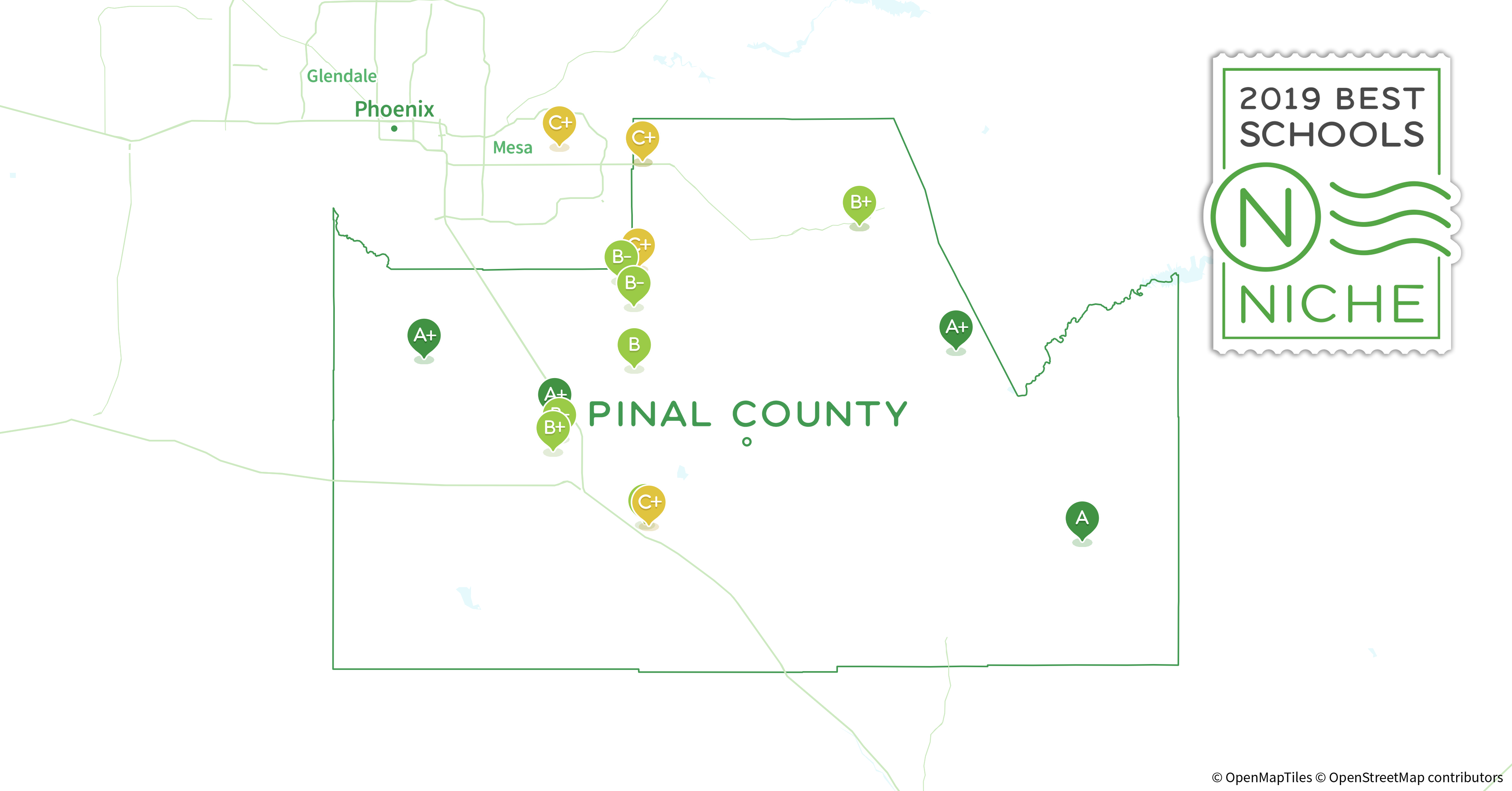 Pinal County Zip Code Map.2019 Best Public Elementary Schools In Pinal County Az Niche