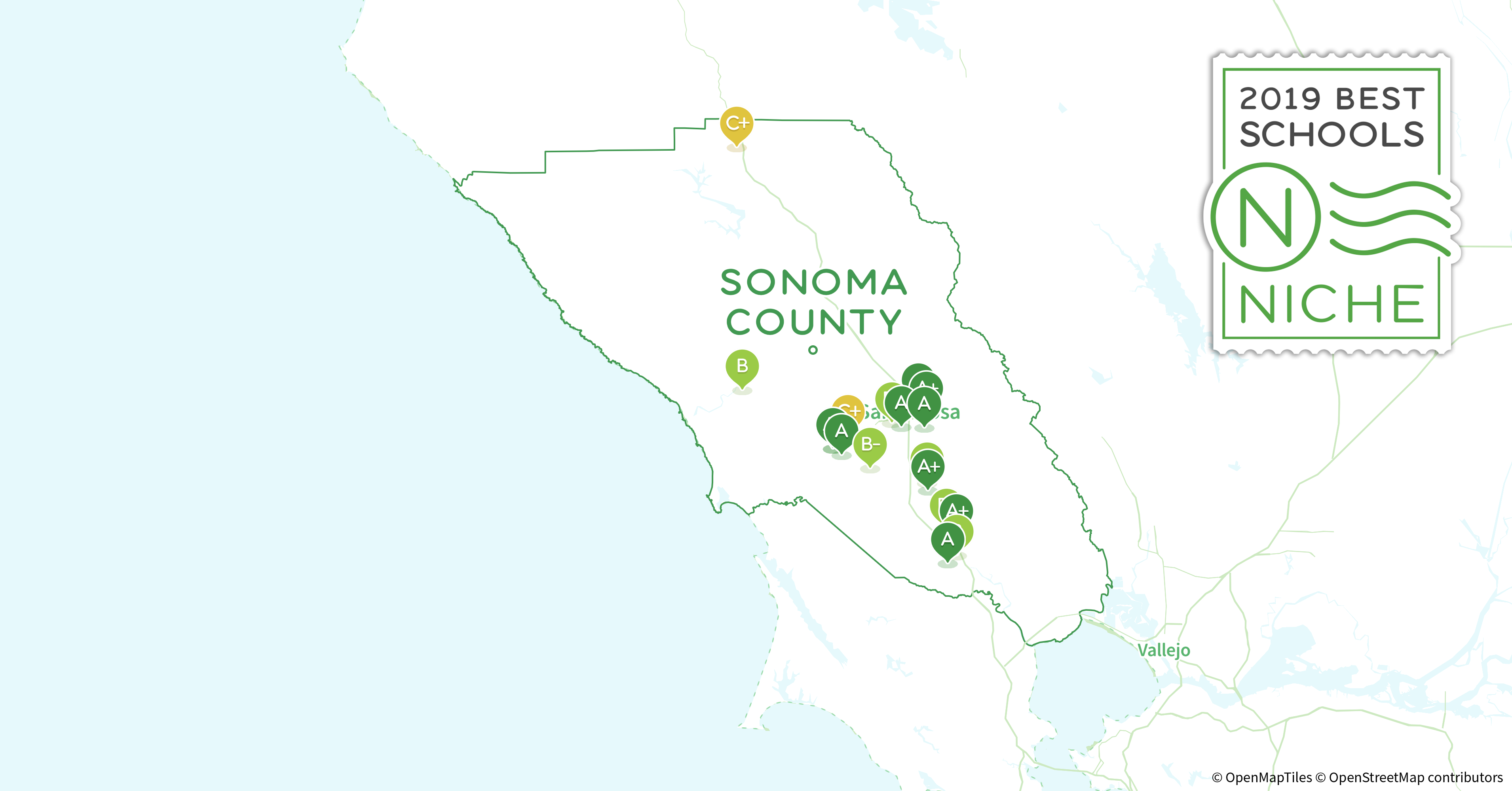 Sonoma Zip Code Map.School Districts In Sonoma County Ca Niche