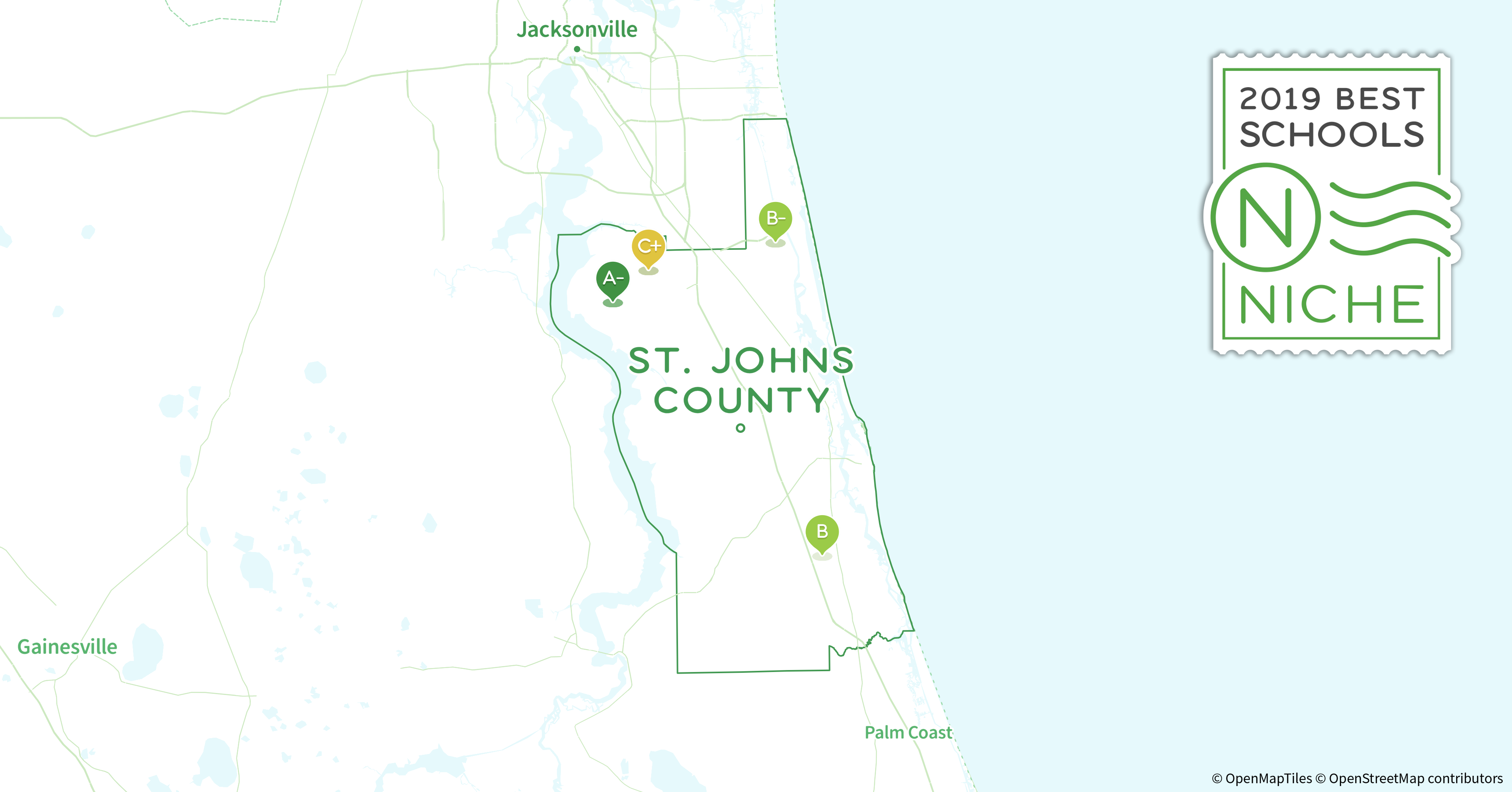 St Johns Florida Map.2019 Best Catholic High Schools In St Johns County Fl Niche