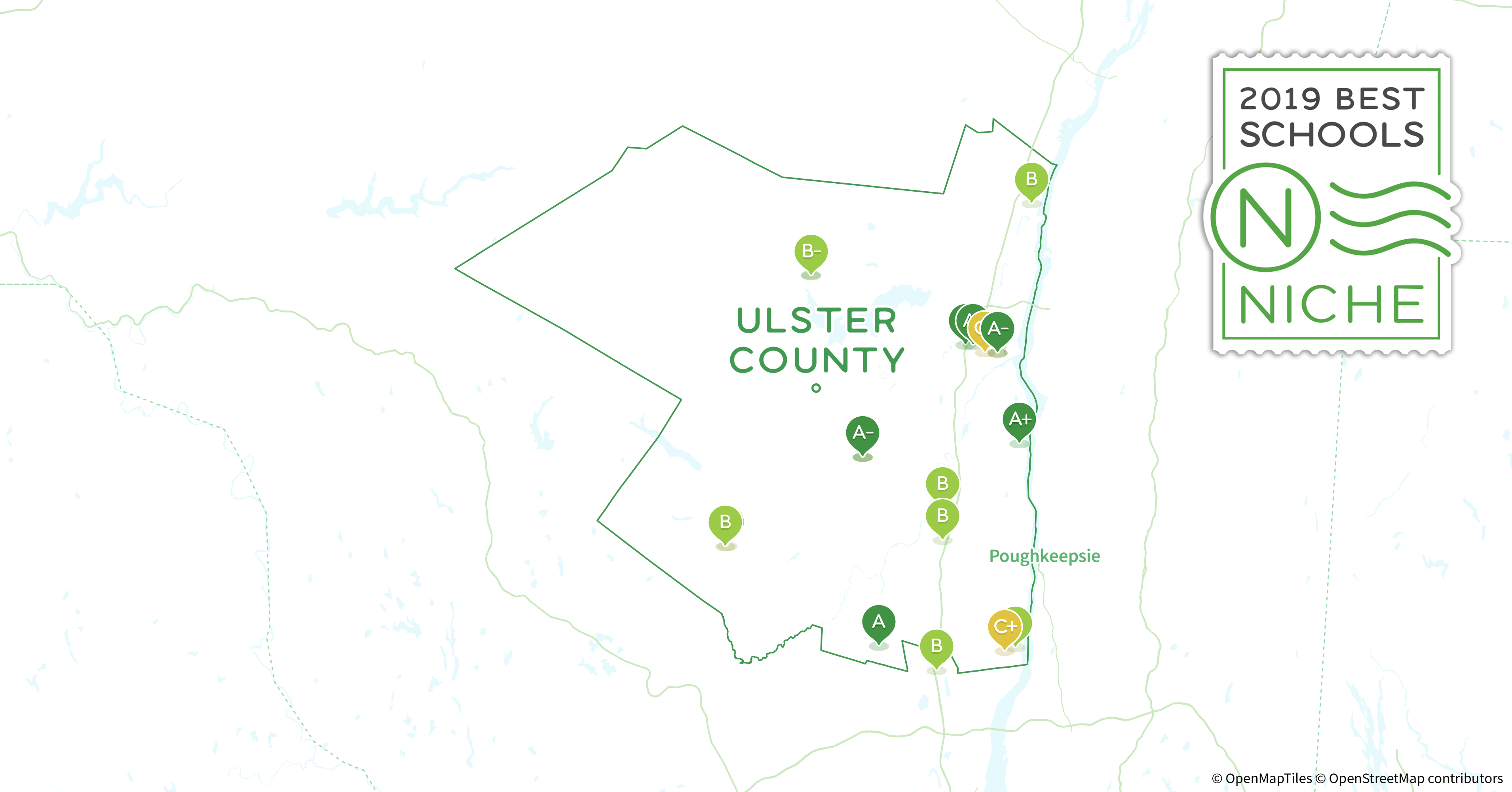 Ulster County New York Map.School Districts In Ulster County Ny Niche