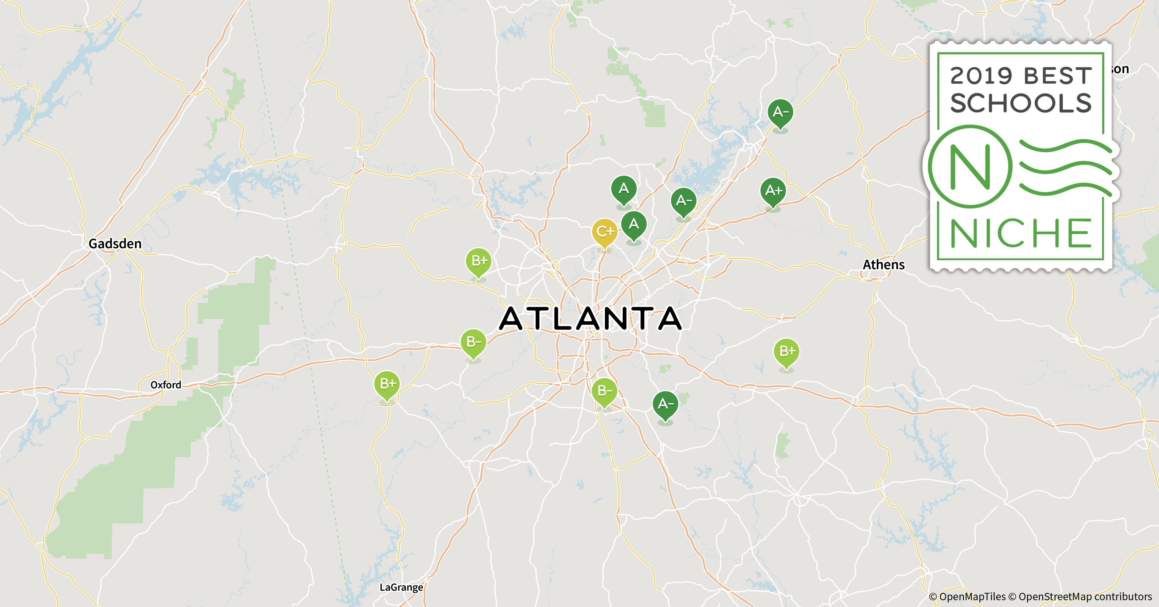 Atlanta Indiana Map.2019 Best School Districts In The Atlanta Area Niche