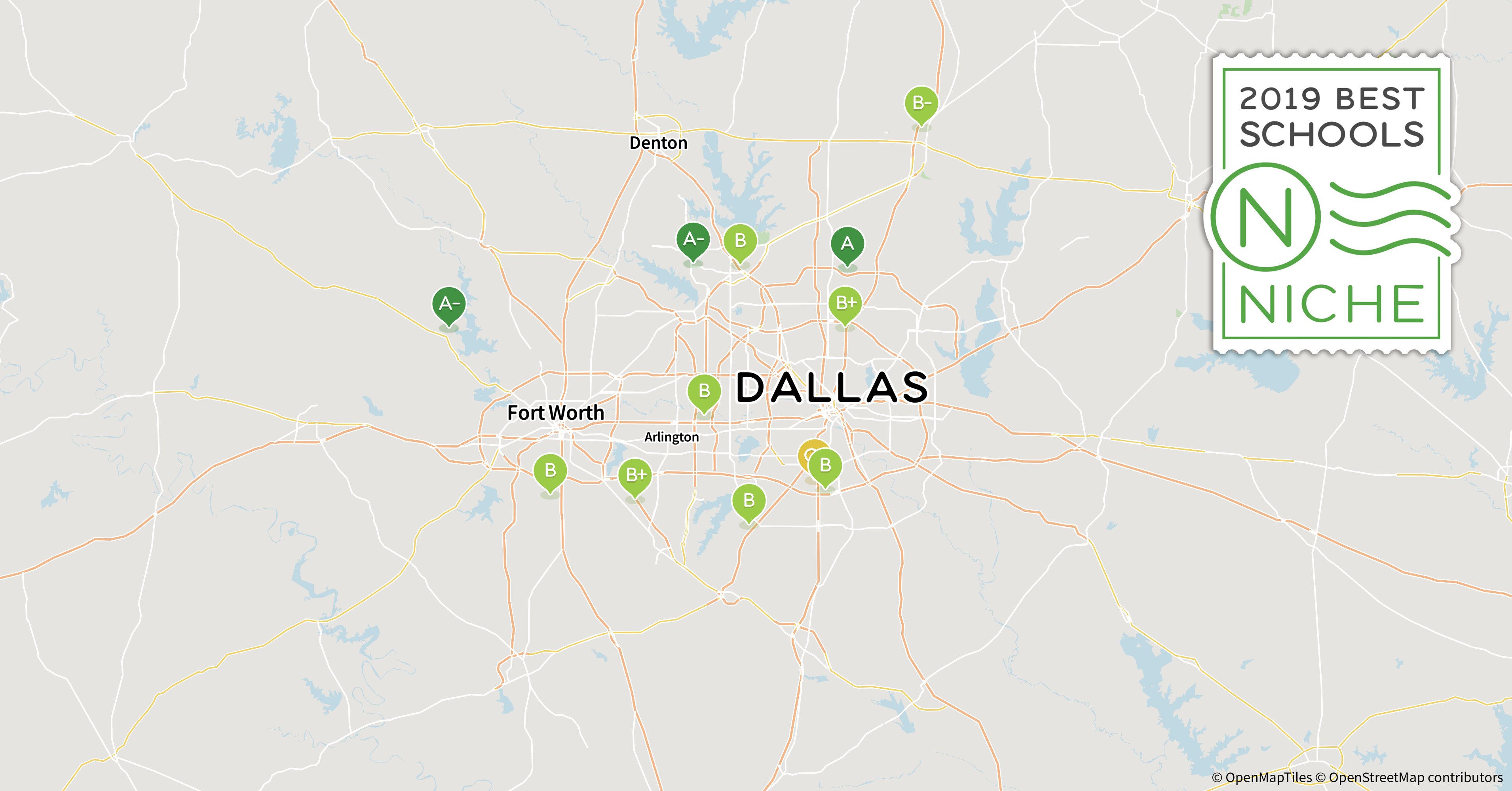 Map Of Texas Isds.2019 Best School Districts In The Dallas Fort Worth Area Niche
